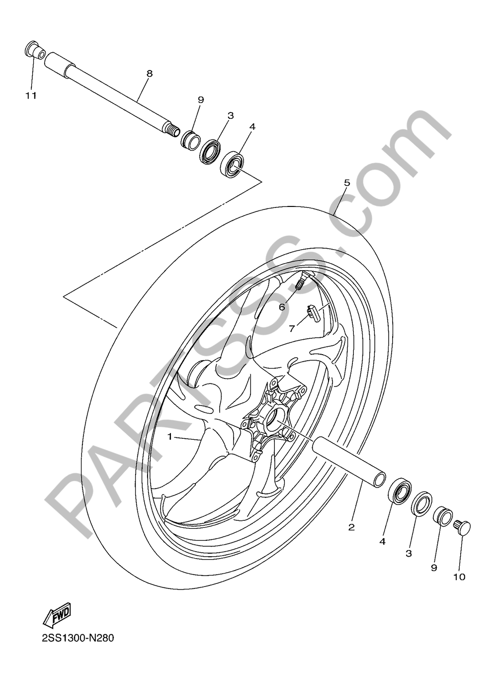 RUEDA DELANTERA Yamaha XVS1300CU-CUSTOM 2016
