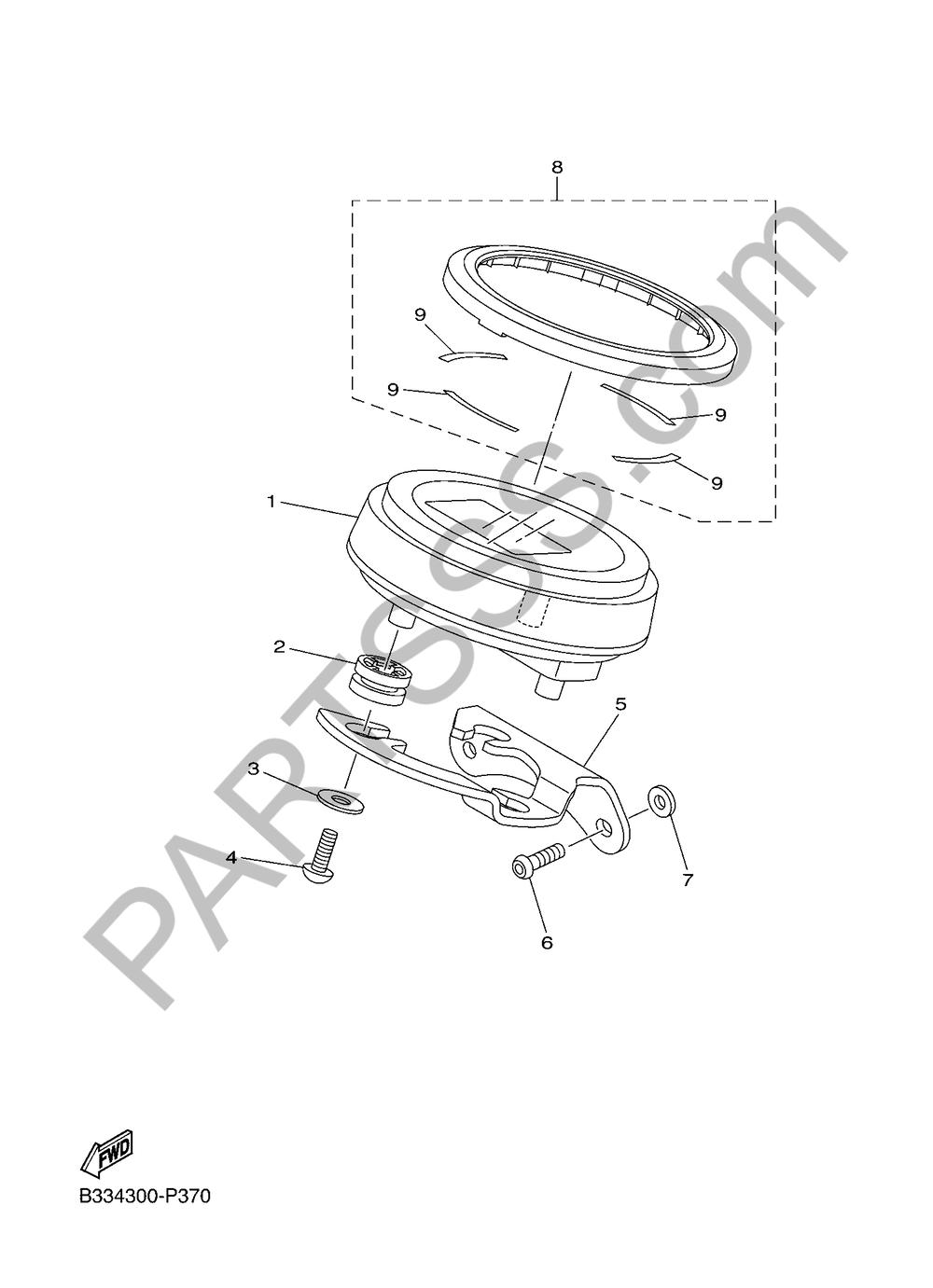MEDIDOR Yamaha XVS950CR ABS 2016