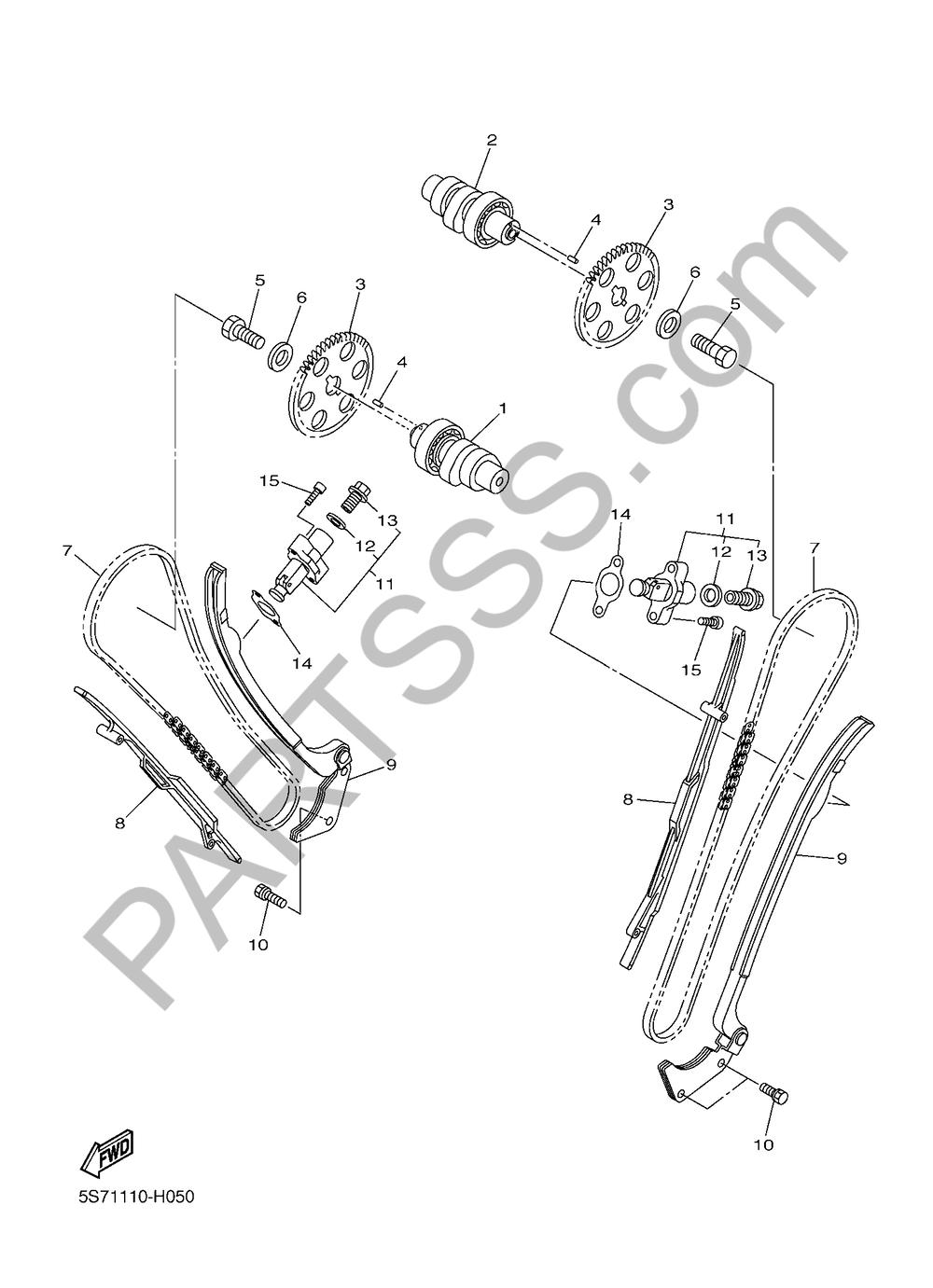 ARBOL DE LEVAS & CADENA Yamaha XVS950CU 2016