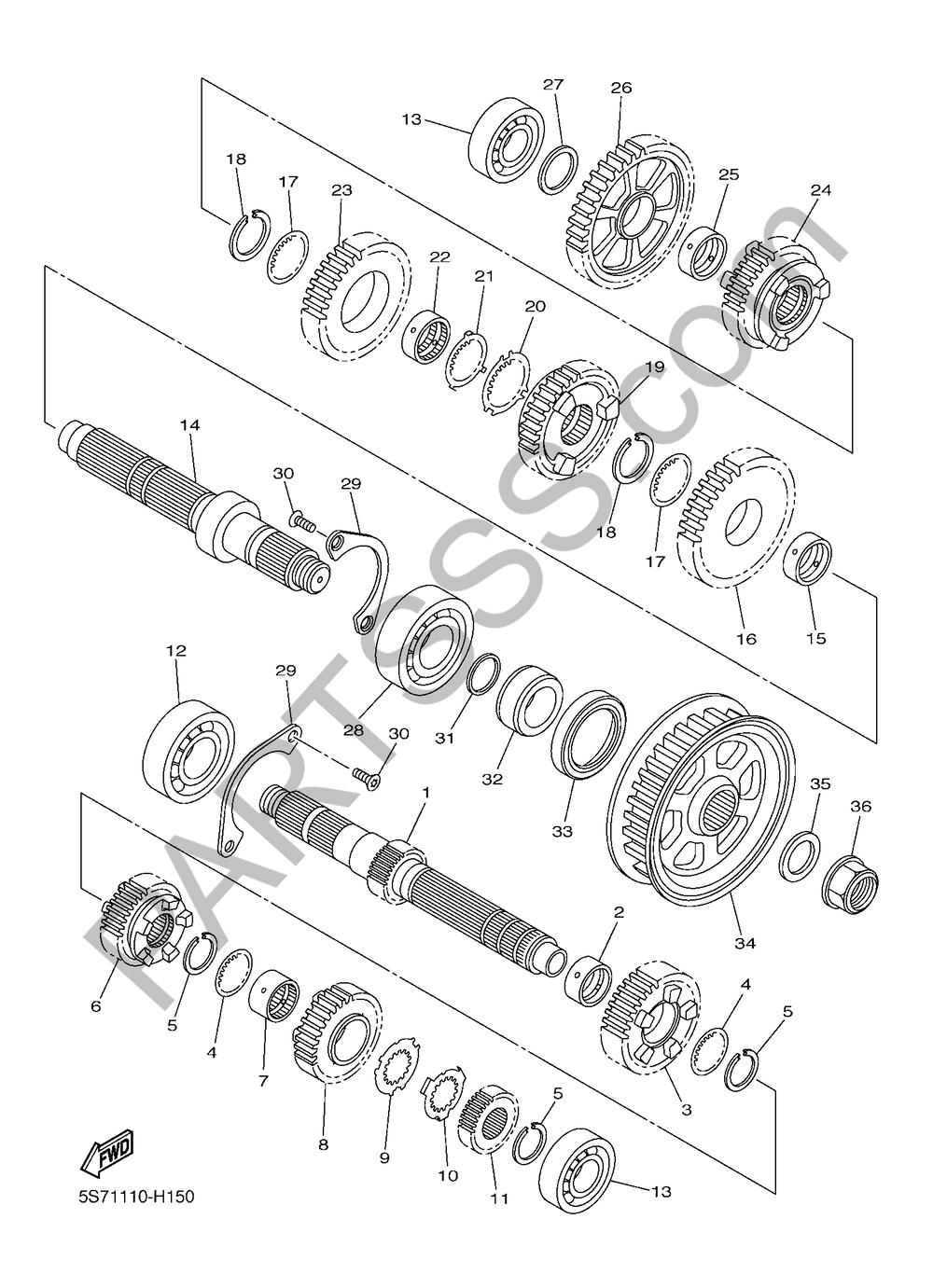 TRANSMISION Yamaha XVS950CU 2016