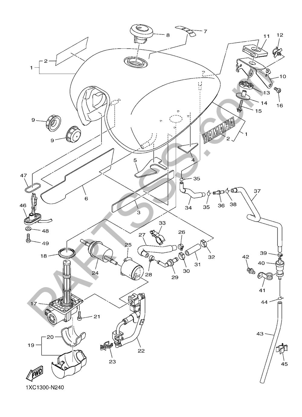DEPOSITO DE COMBUSTIBLE Yamaha XVS950CU 2016