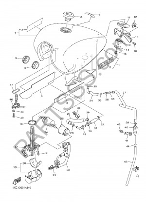 Yamaha XVS950CU 2016 DEPOSITO DE COMBUSTIBLE