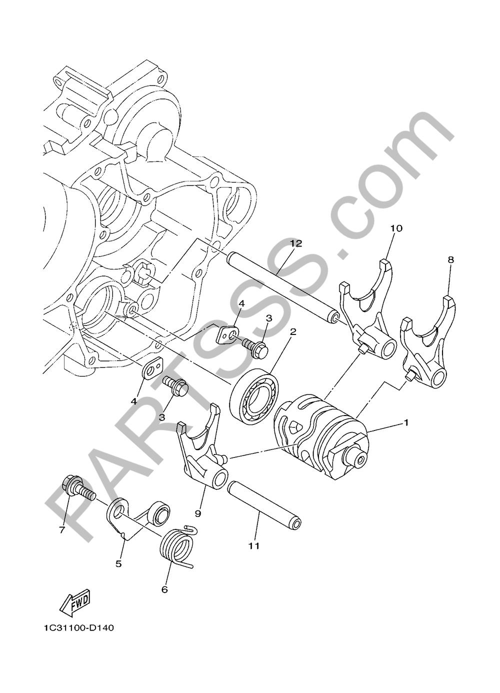 SHIFT CAM & FORK Yamaha YZ125 2018