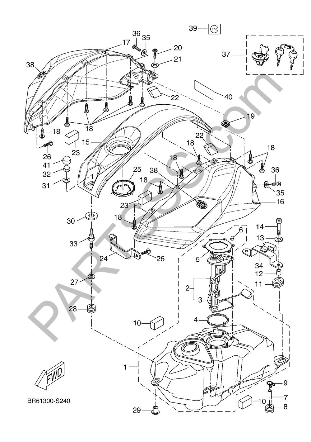 DEPOSITO DE COMBUSTIBLE Yamaha YZF-R125 ABS 2017