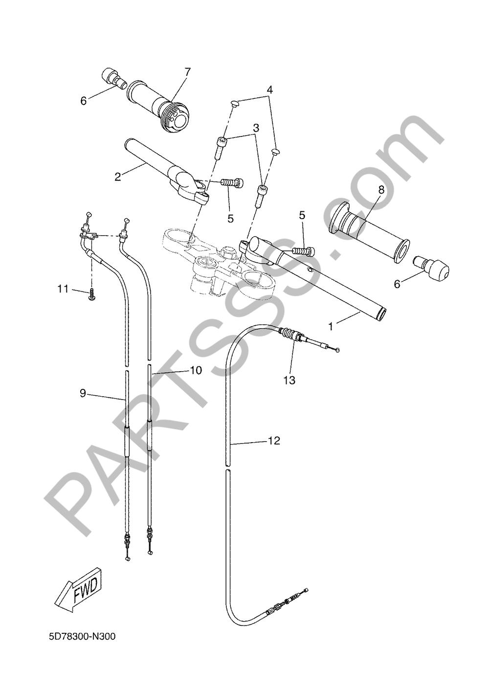 MANILLAR & CABLE Yamaha YZF-R125 2018