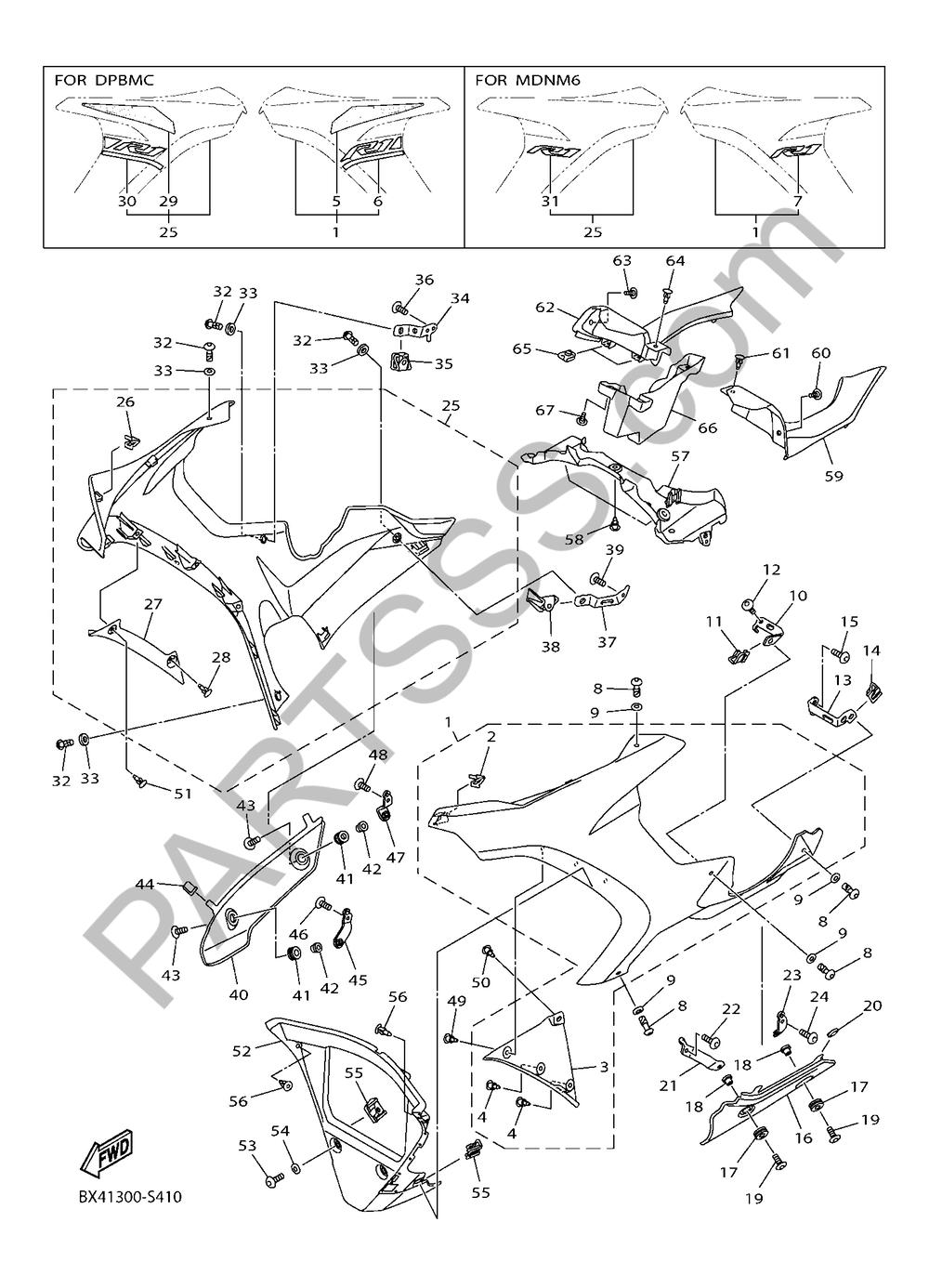 BOVEDA 2 Yamaha YZF-R1 2017