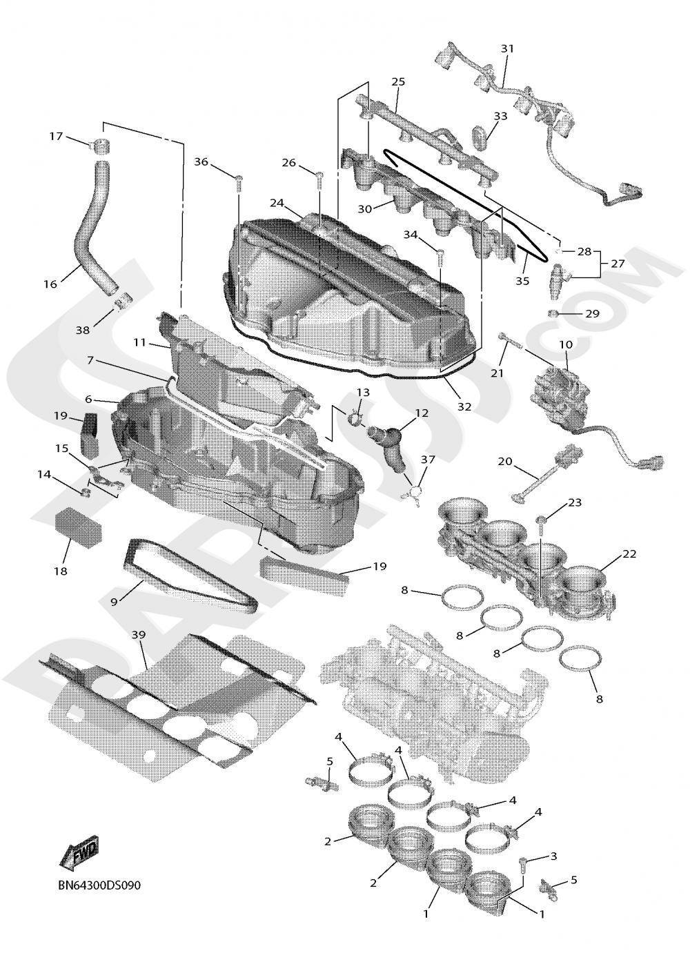 INTAKE Yamaha YZF-R6 2019
