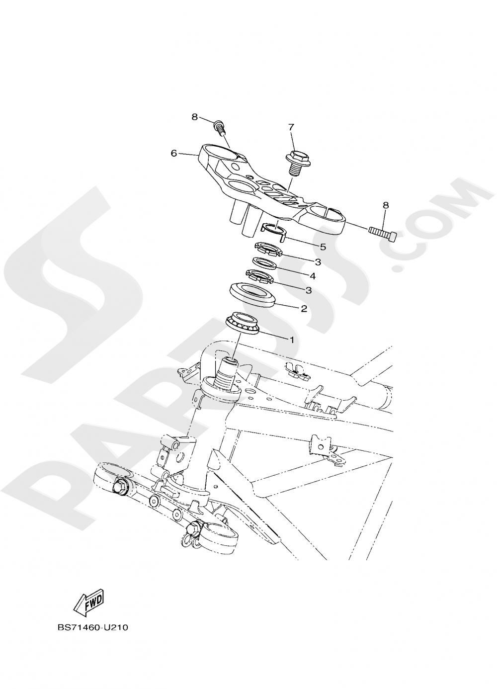 STEERING Yamaha YZF-R3 ABS 2020