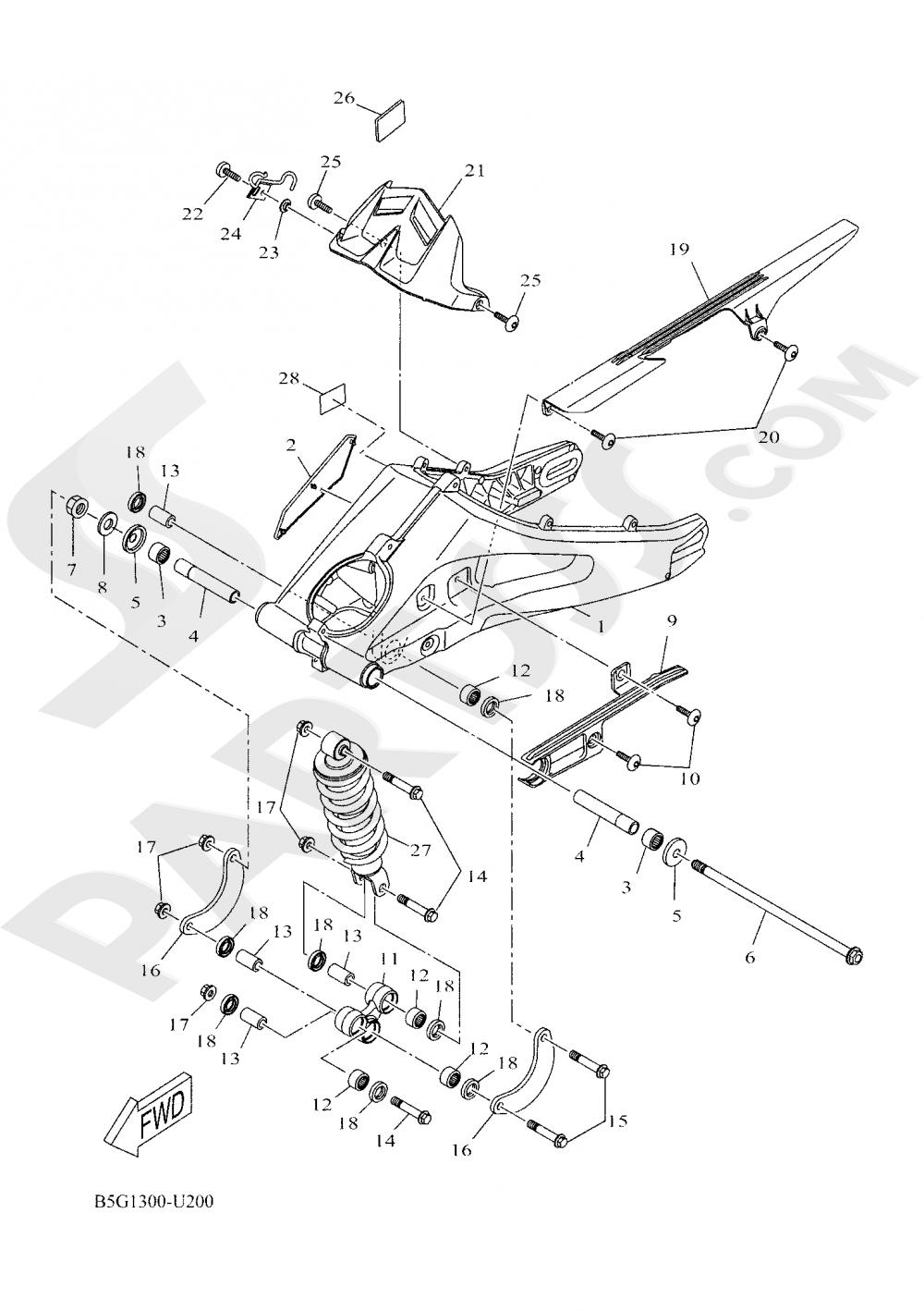 REAR ARM & SUSPENSION Yamaha YZF-R125 ABS 2019