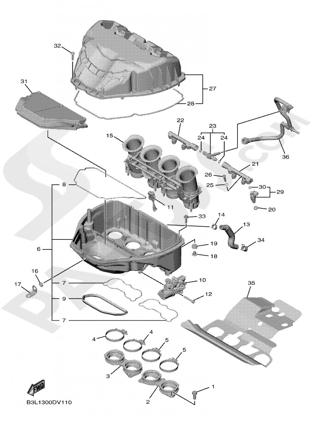 INTAKE Yamaha YZF-R1 2020