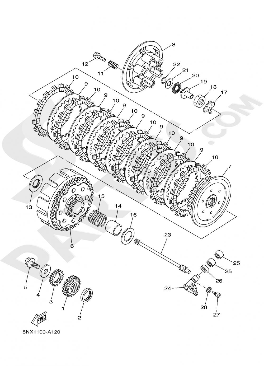 CLUTCH Yamaha YZ250 2020