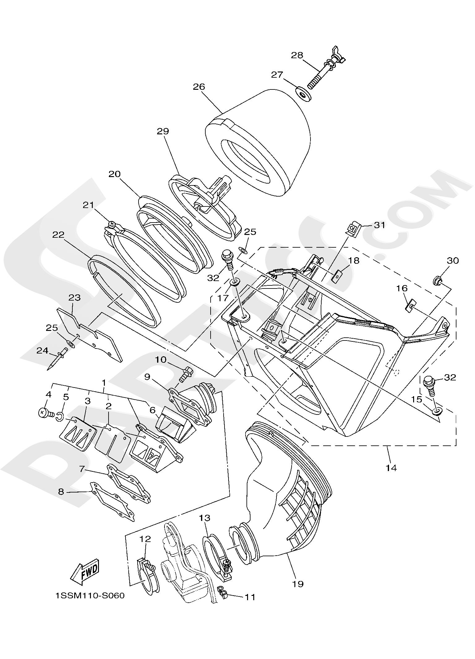 Yamaha YZ250 2019 INTAKE