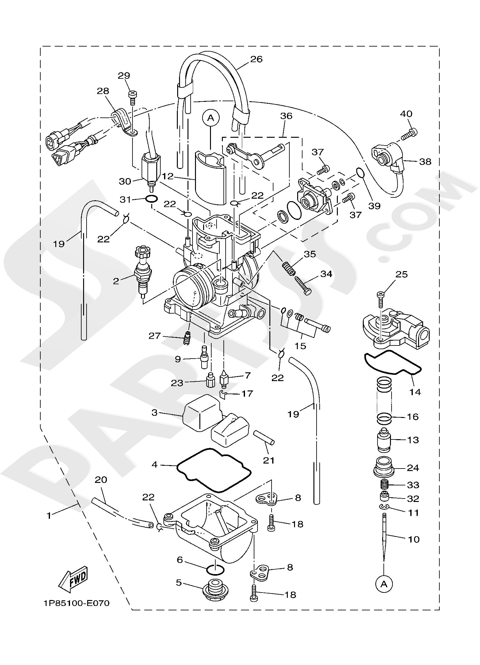 Yamaha YZ250 2019 CARBURETOR