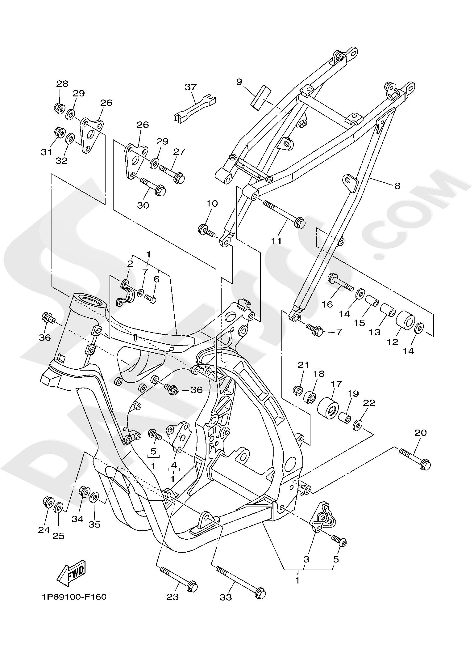 Yamaha YZ250 2019 FRAME