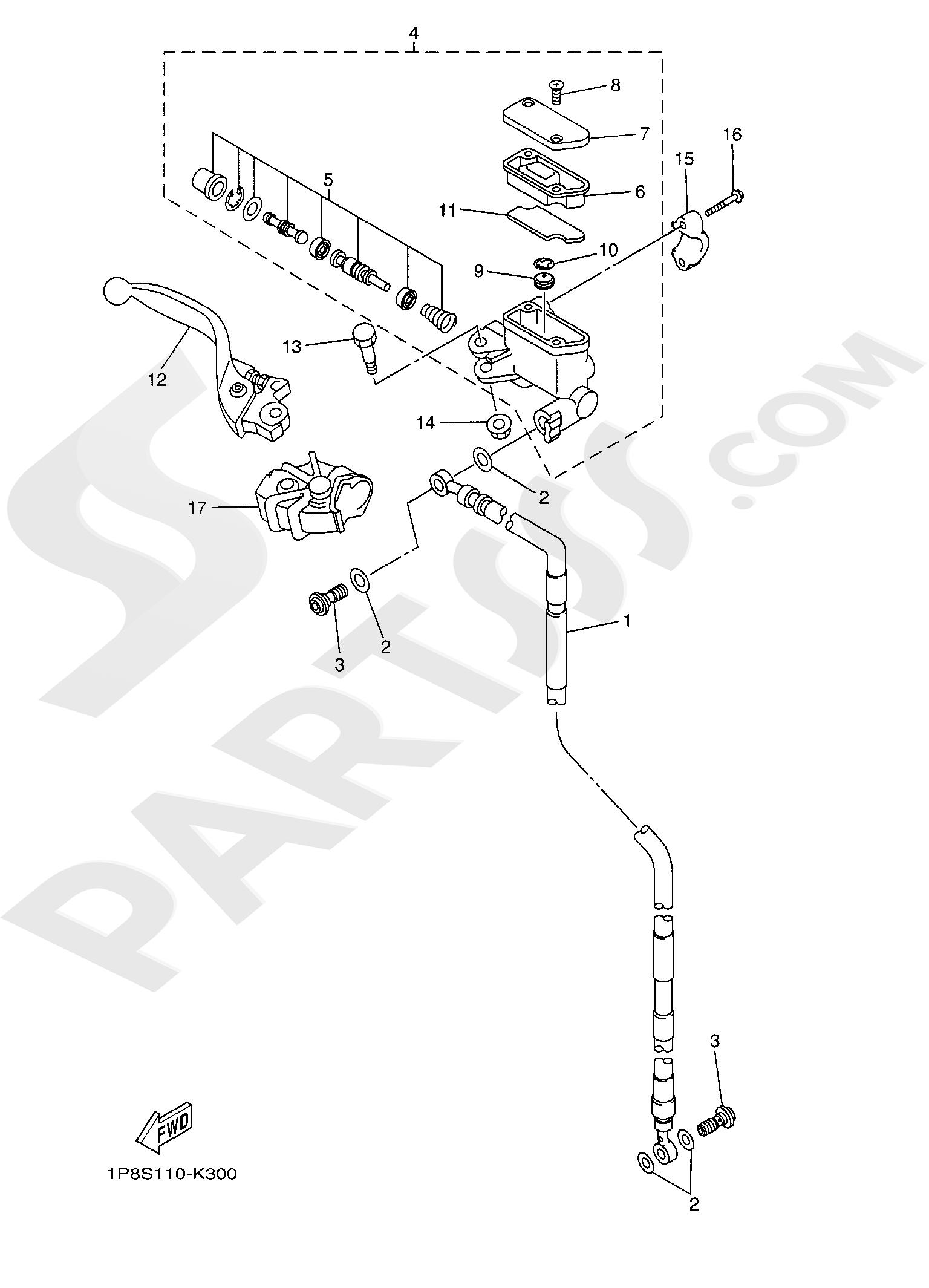 Yamaha YZ250 2019 FRONT MASTER CYLINDER