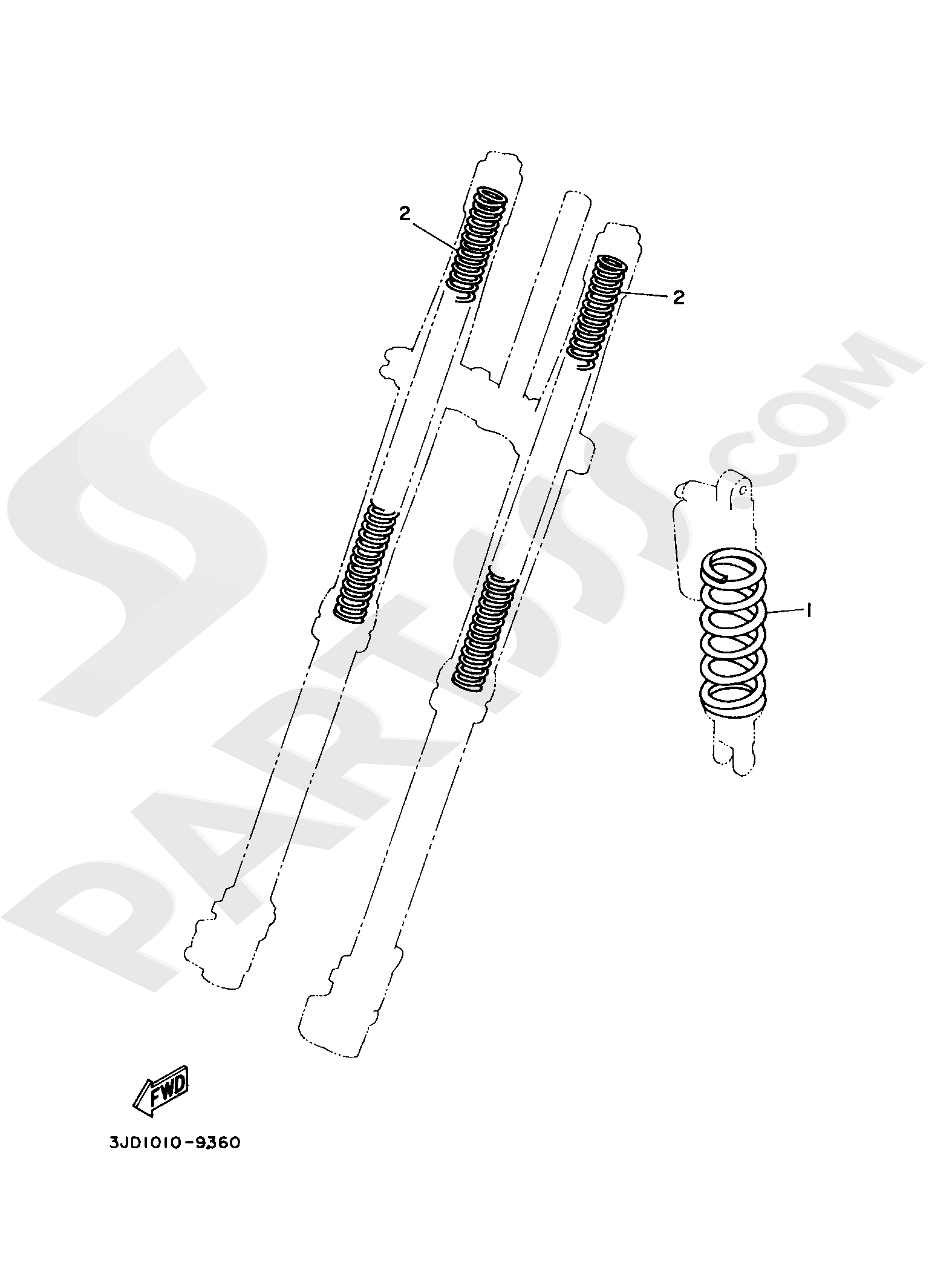 Yamaha YZ250 2019 ALTERNATE FOR CHASSIS