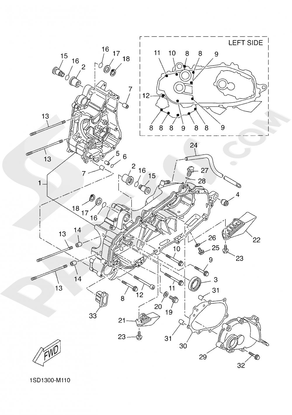 CRANKCASE Yamaha XMAX 400 TECH MAX 2020