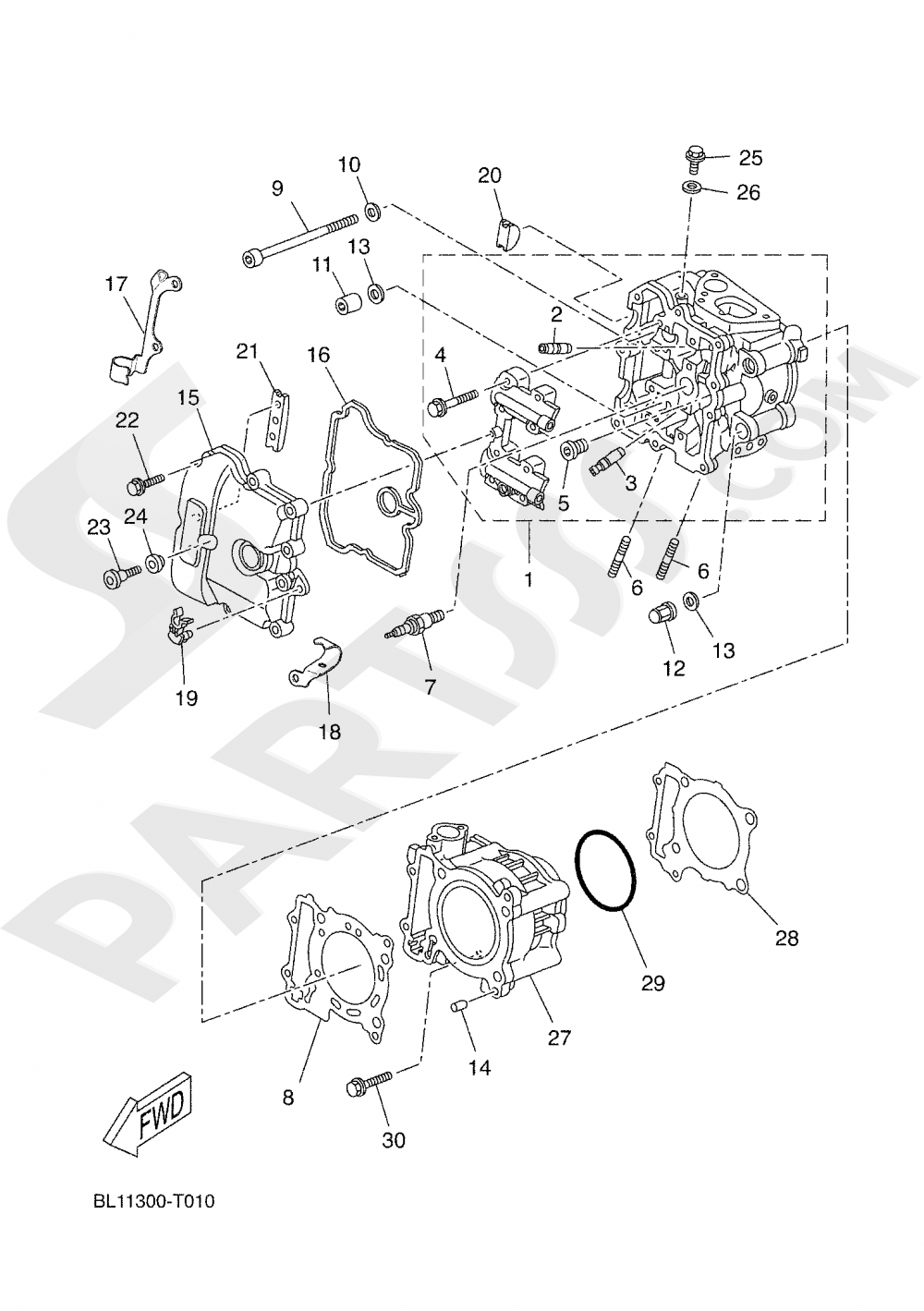 CYLINDER Yamaha X-Max 400 ABS 2019