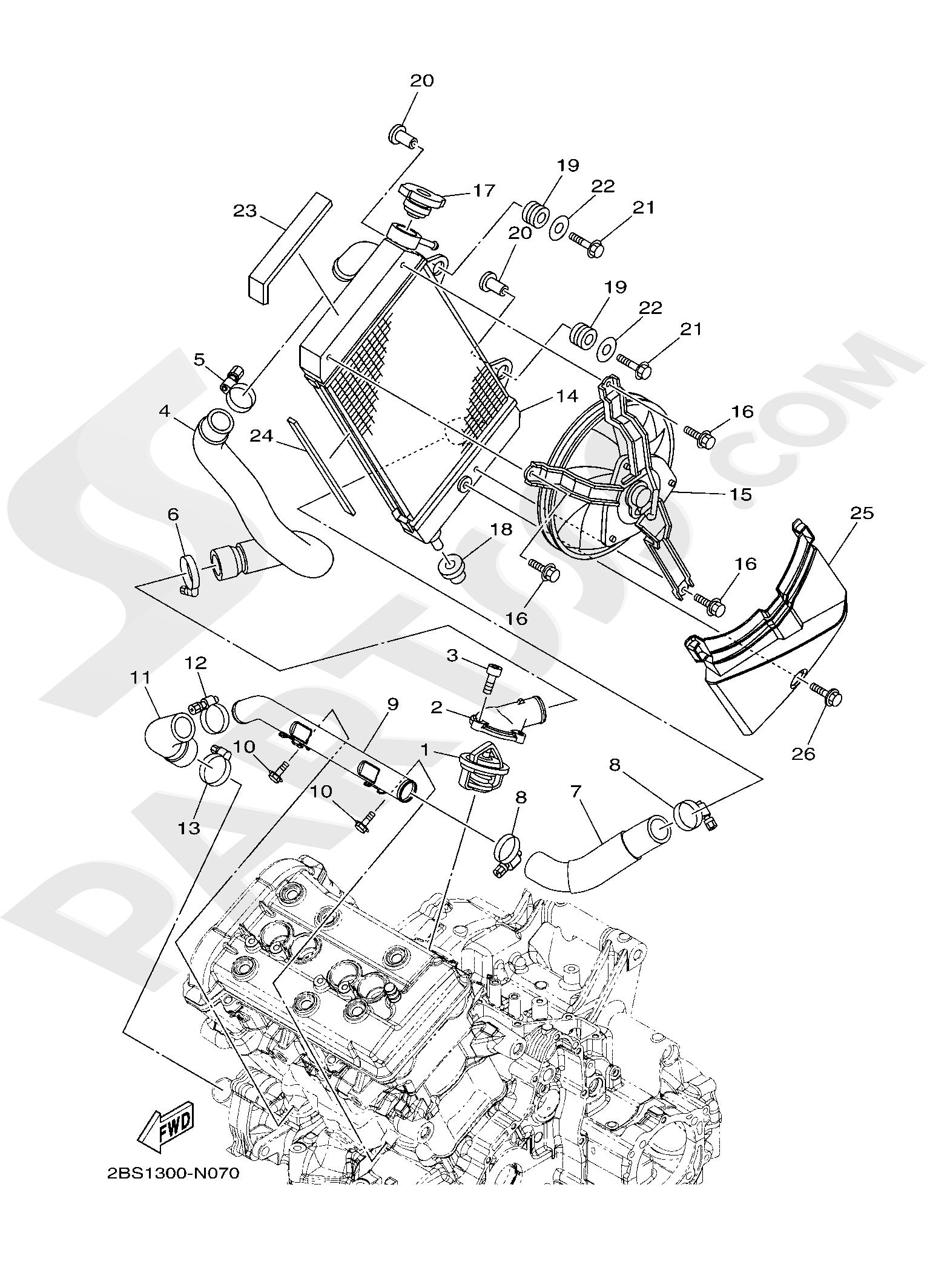 Yamaha XT1200ZE SuperTenere 2019 RADIATOR & HOSE