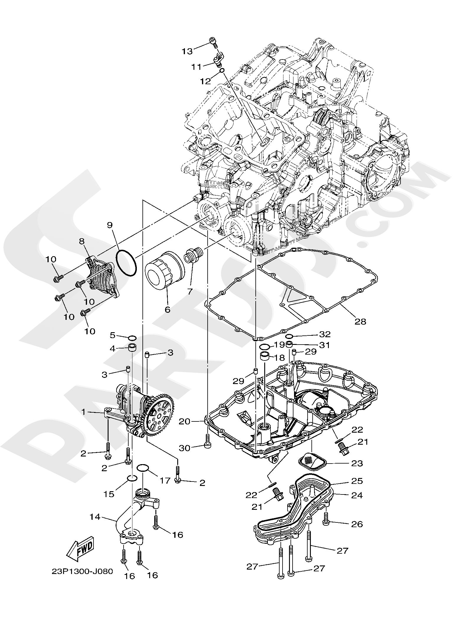 Yamaha XT1200ZE SuperTenere 2019 OIL PUMP