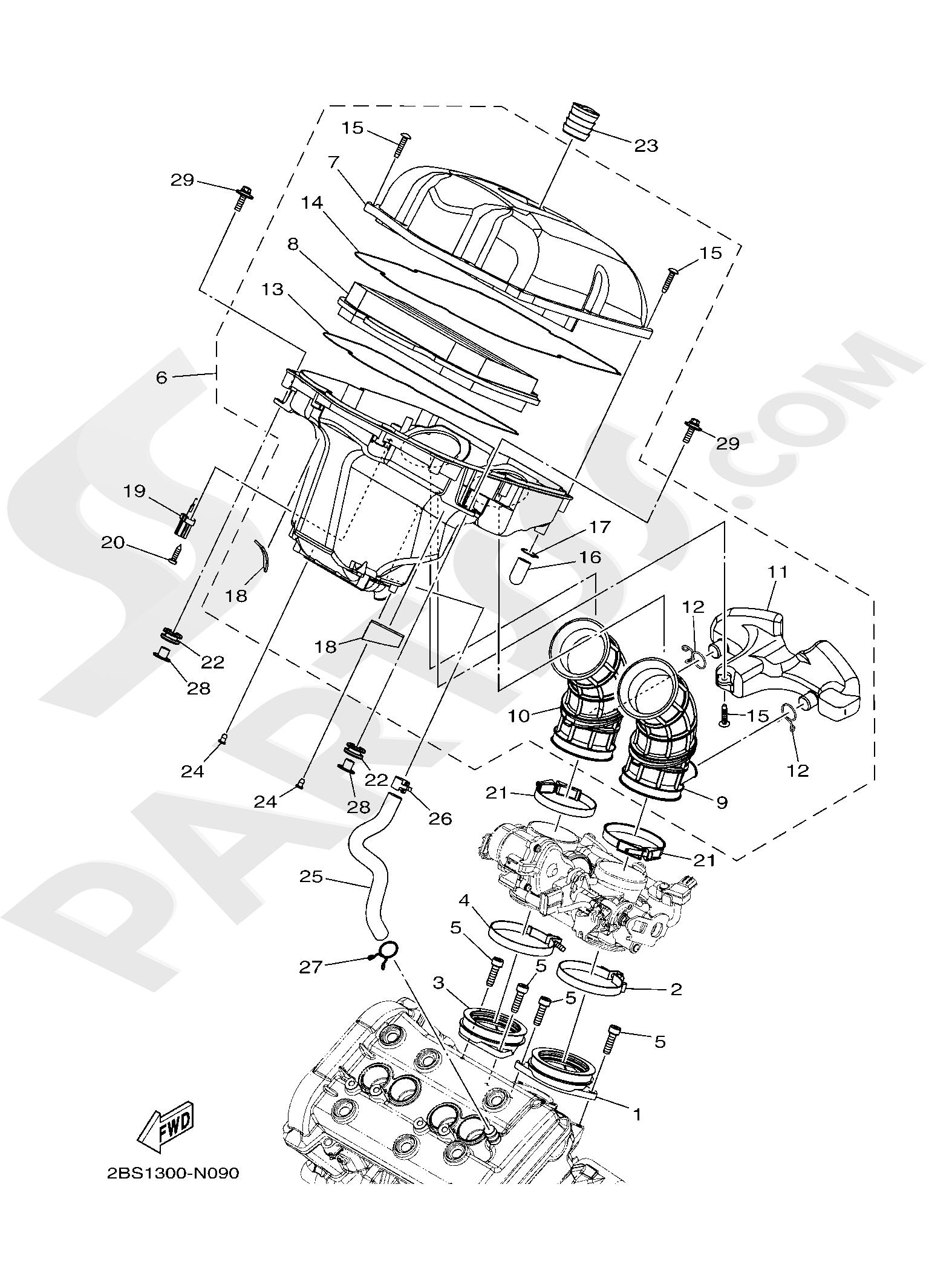 Yamaha XT1200ZE SuperTenere 2019 INTAKE