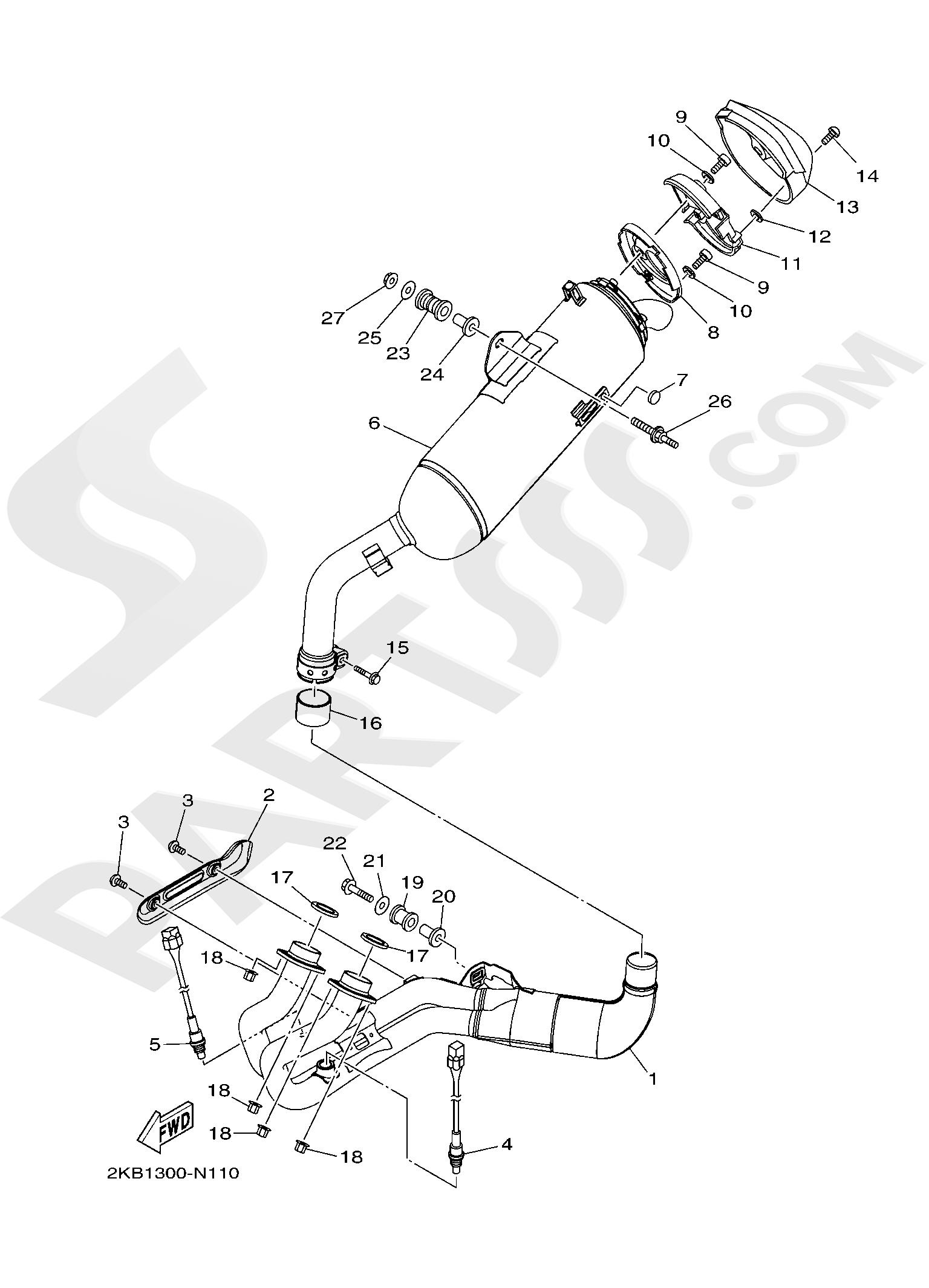 Yamaha XT1200ZE SuperTenere 2019 EXHAUST