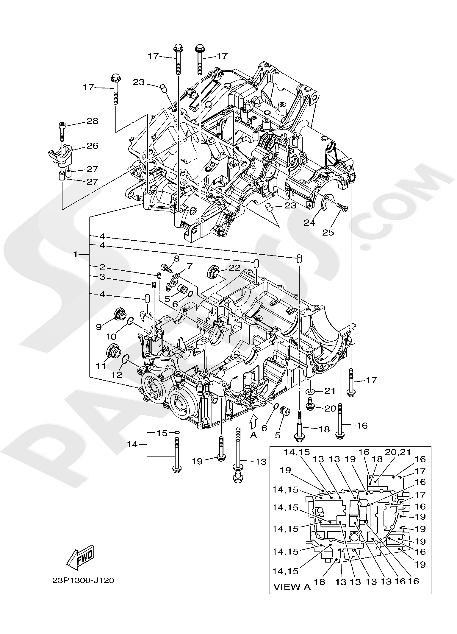 Yamaha XT1200ZE SuperTenere 2019 CRANKCASE