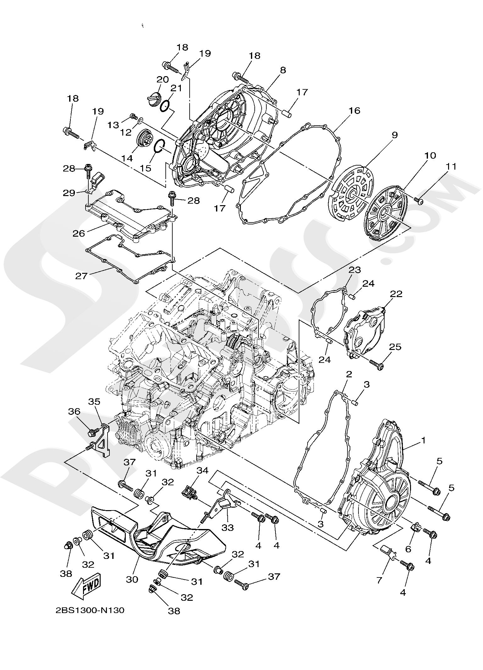 Yamaha XT1200ZE SuperTenere 2019 CRANKCASE COVER 1