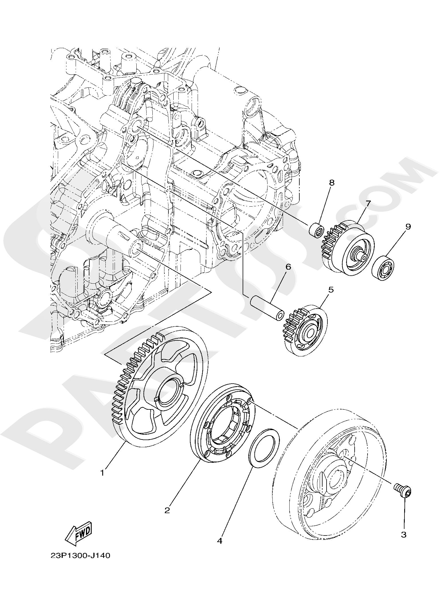 Yamaha XT1200ZE SuperTenere 2019 STARTER CLUTCH