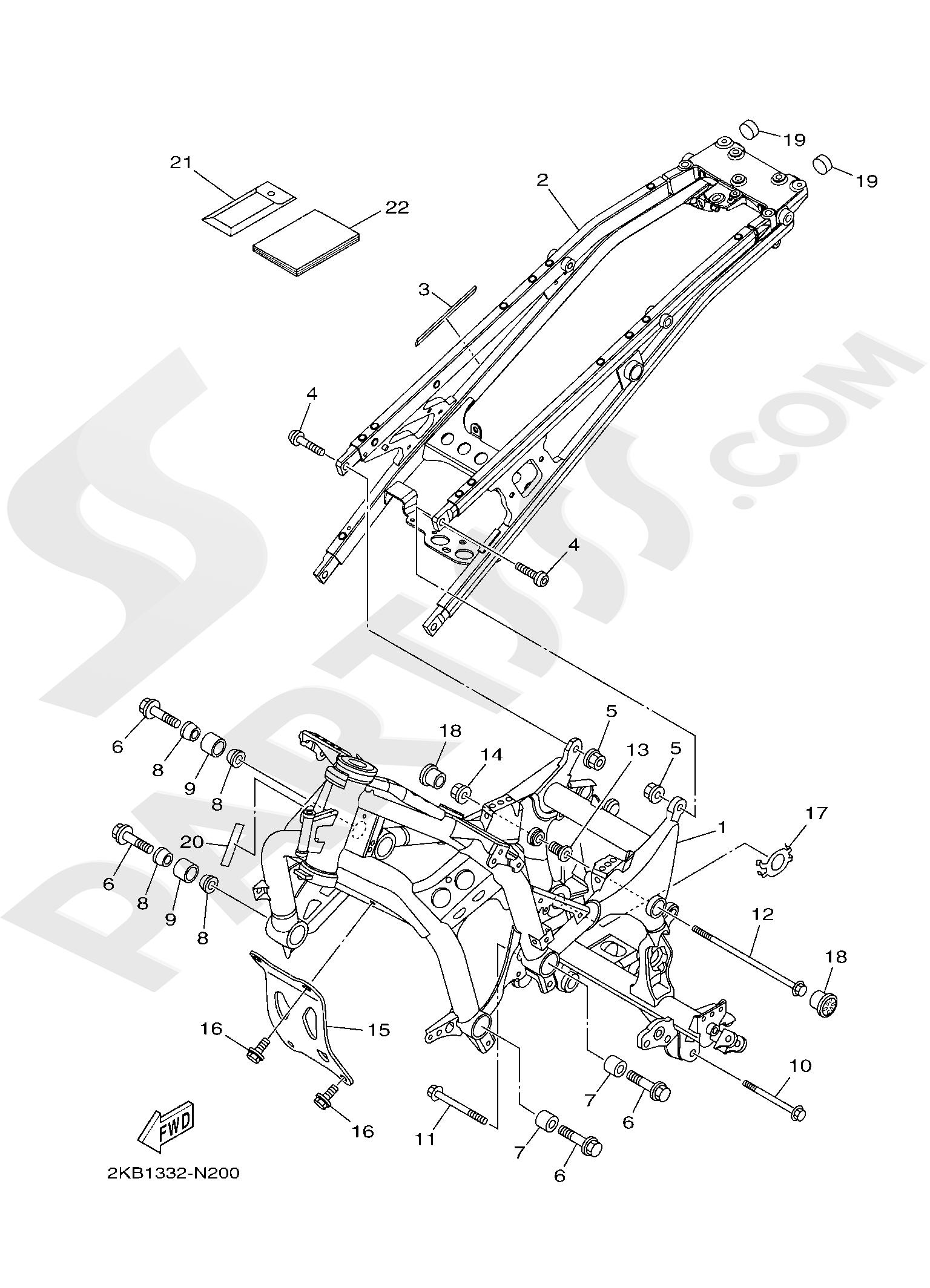 Yamaha XT1200ZE SuperTenere 2019 FRAME