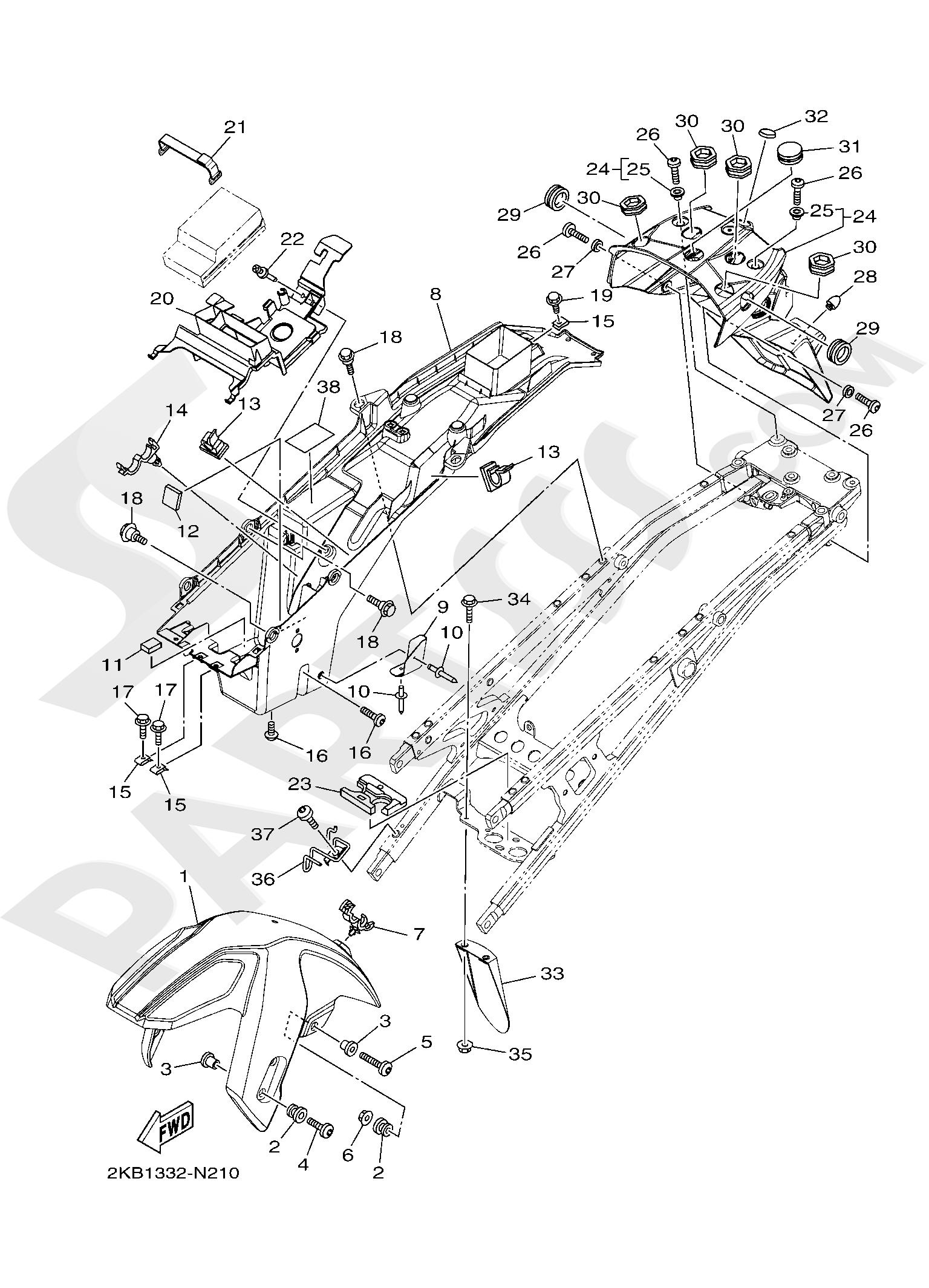 Yamaha XT1200ZE SuperTenere 2019 FENDER