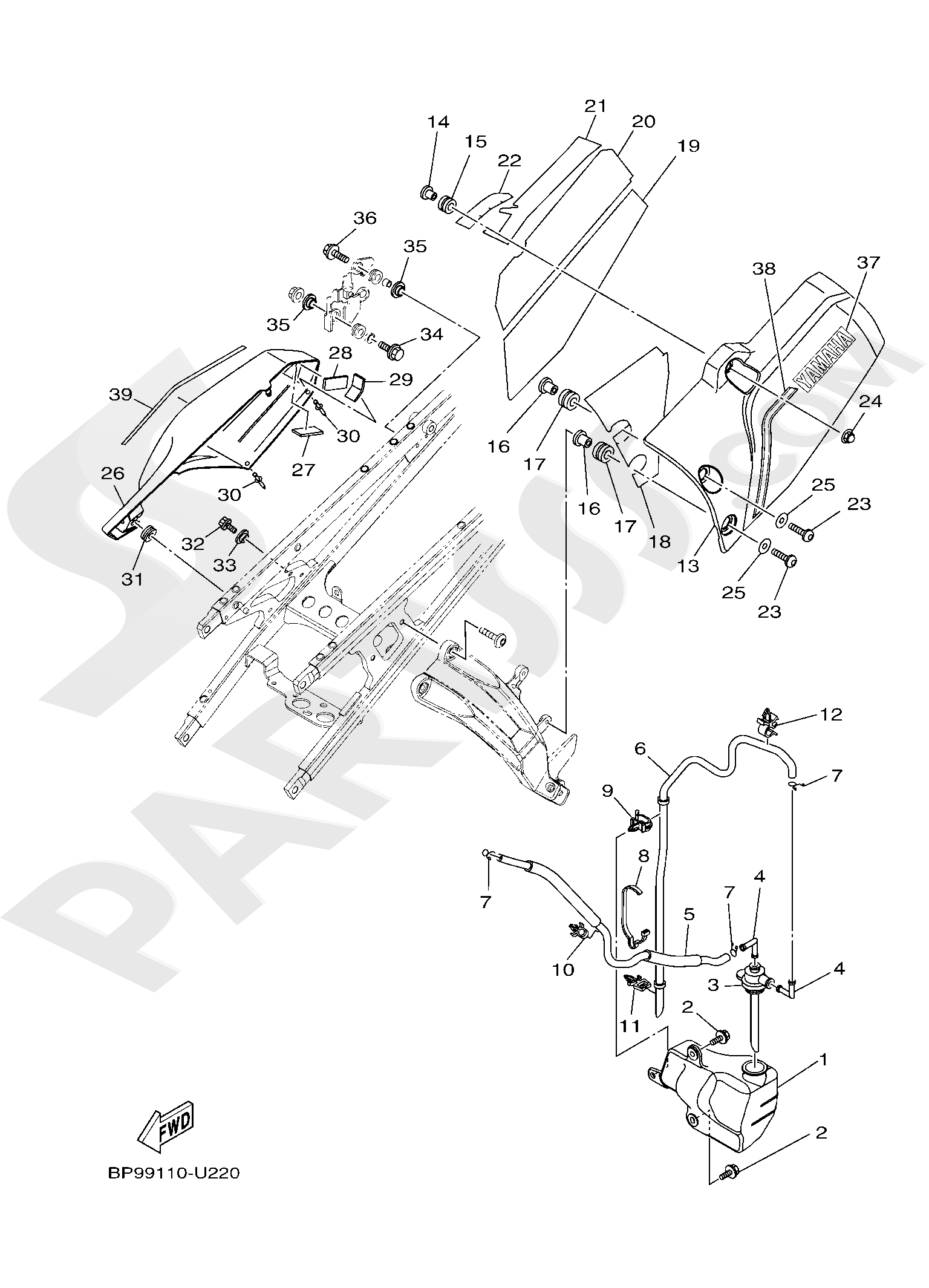Yamaha XT1200ZE SuperTenere 2019 SIDE COVER