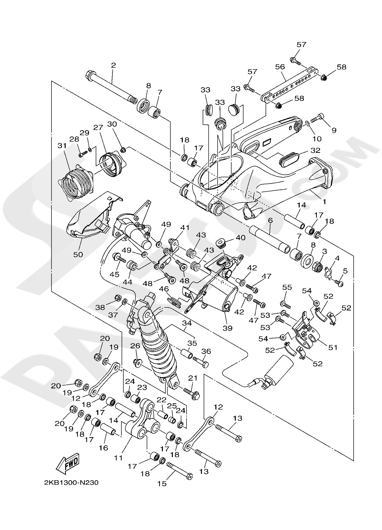 Yamaha XT1200ZE SuperTenere 2019 REAR ARM & SUSPENSION