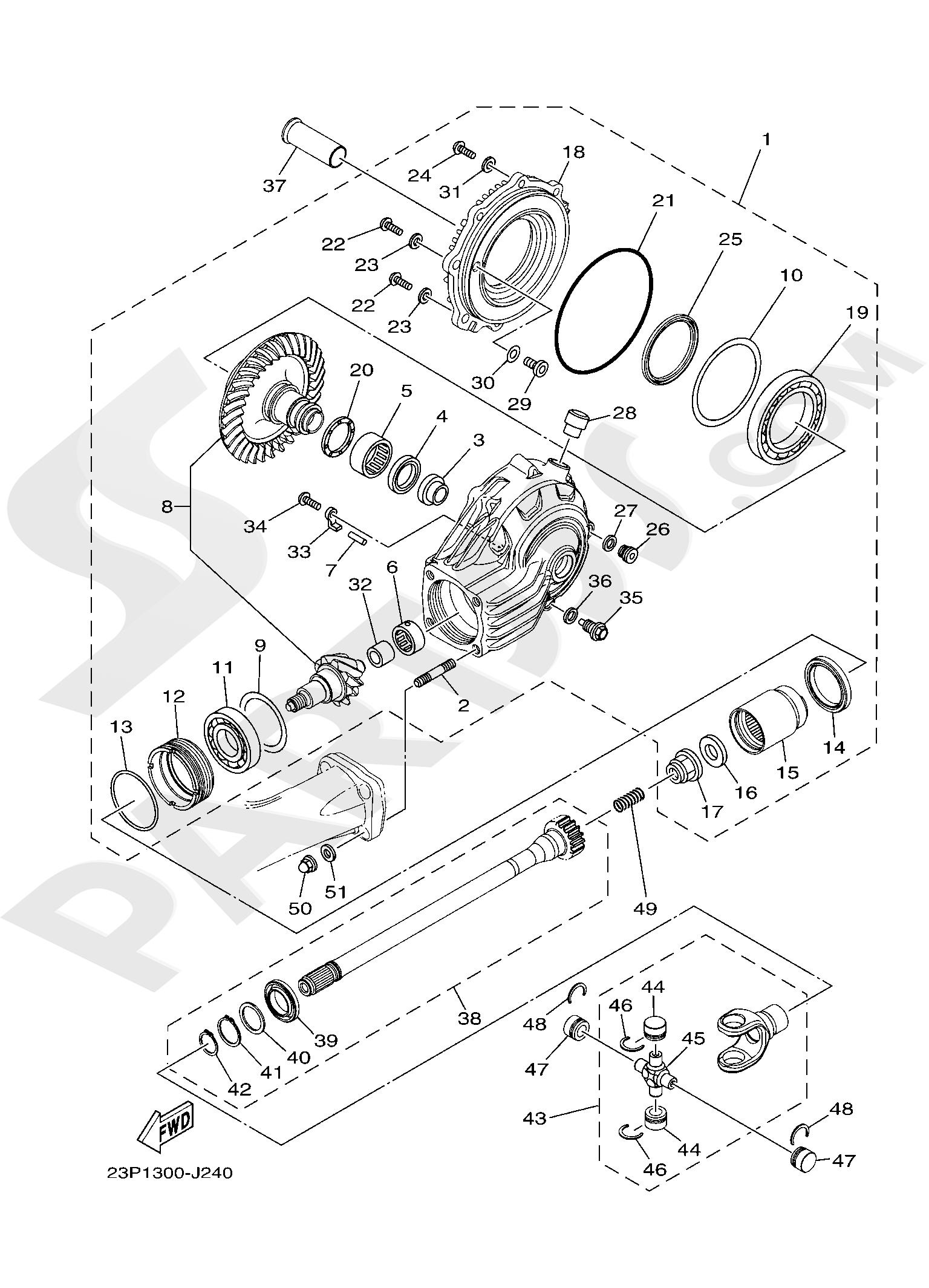 Yamaha XT1200ZE SuperTenere 2019 DRIVE SHAFT