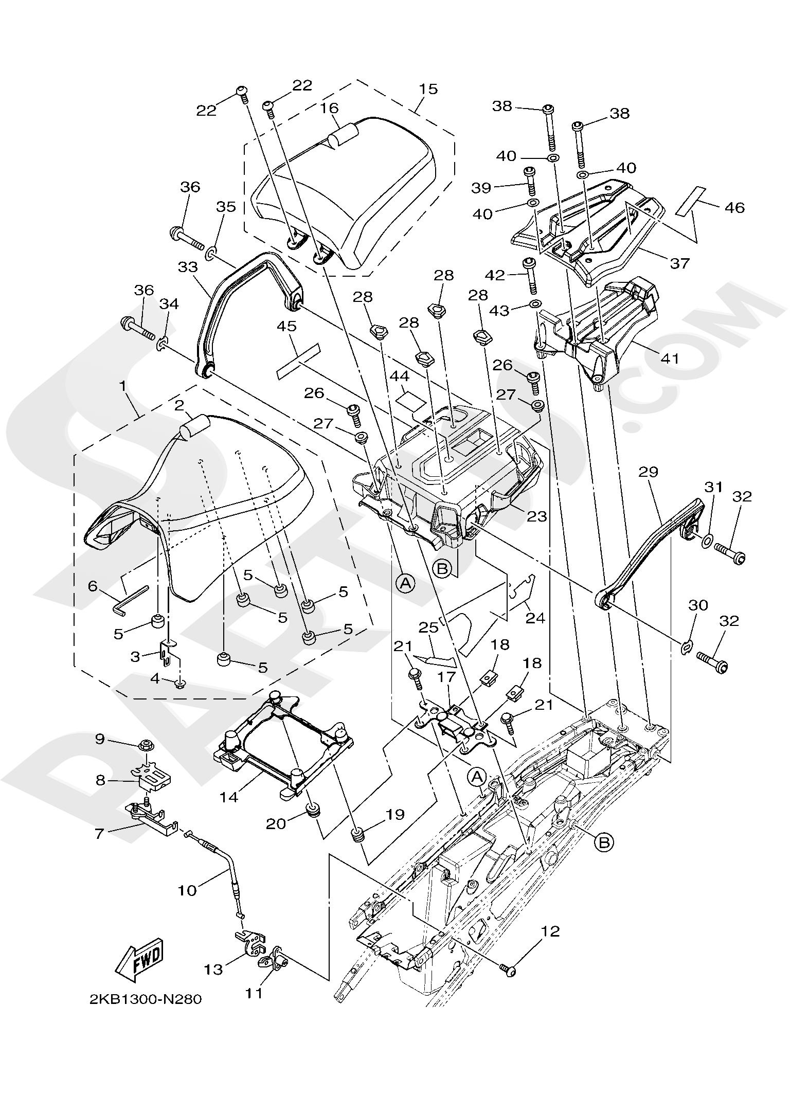 Yamaha XT1200ZE SuperTenere 2019 SEAT