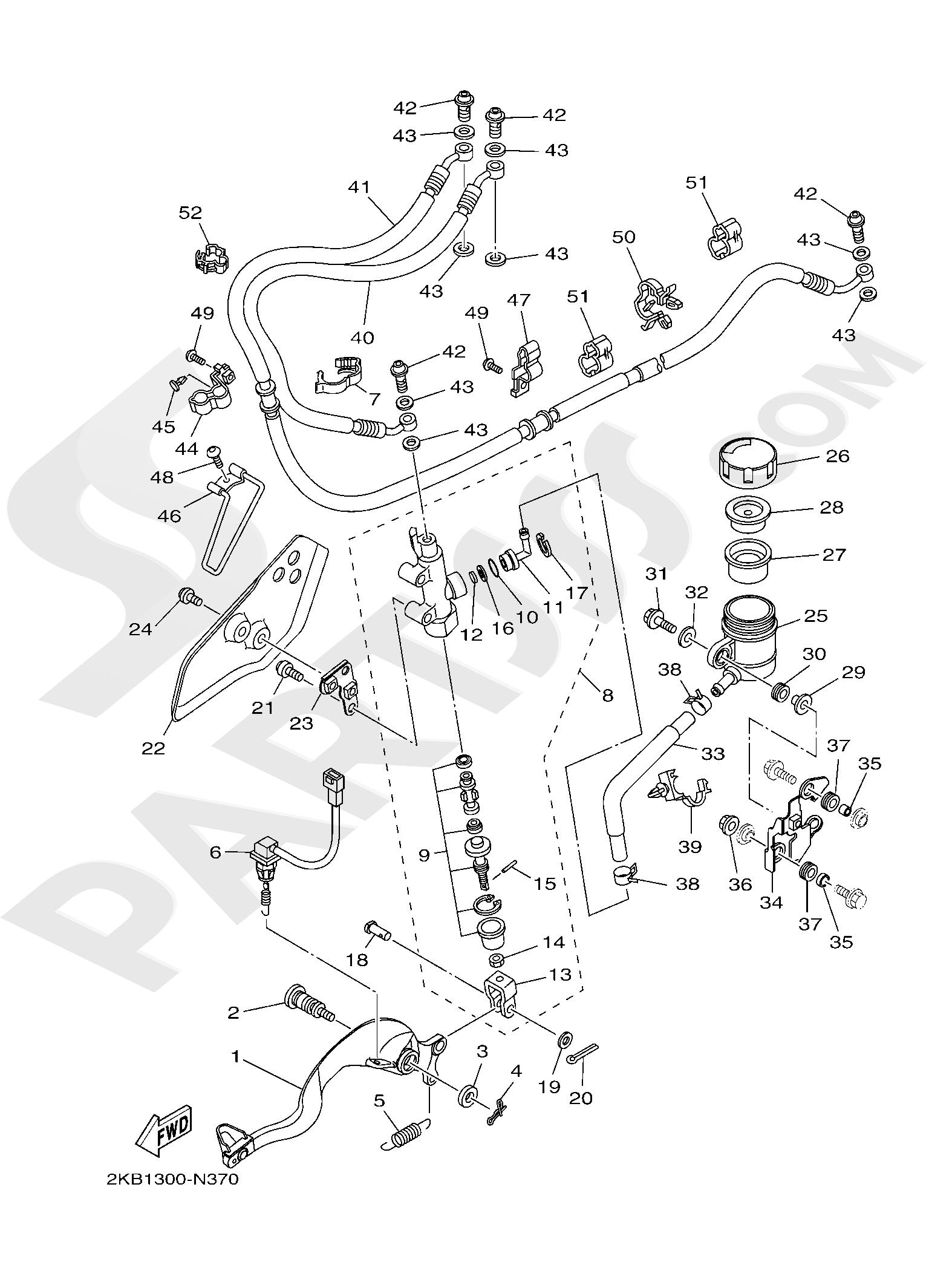 Yamaha XT1200ZE SuperTenere 2019 REAR MASTER CYLINDER