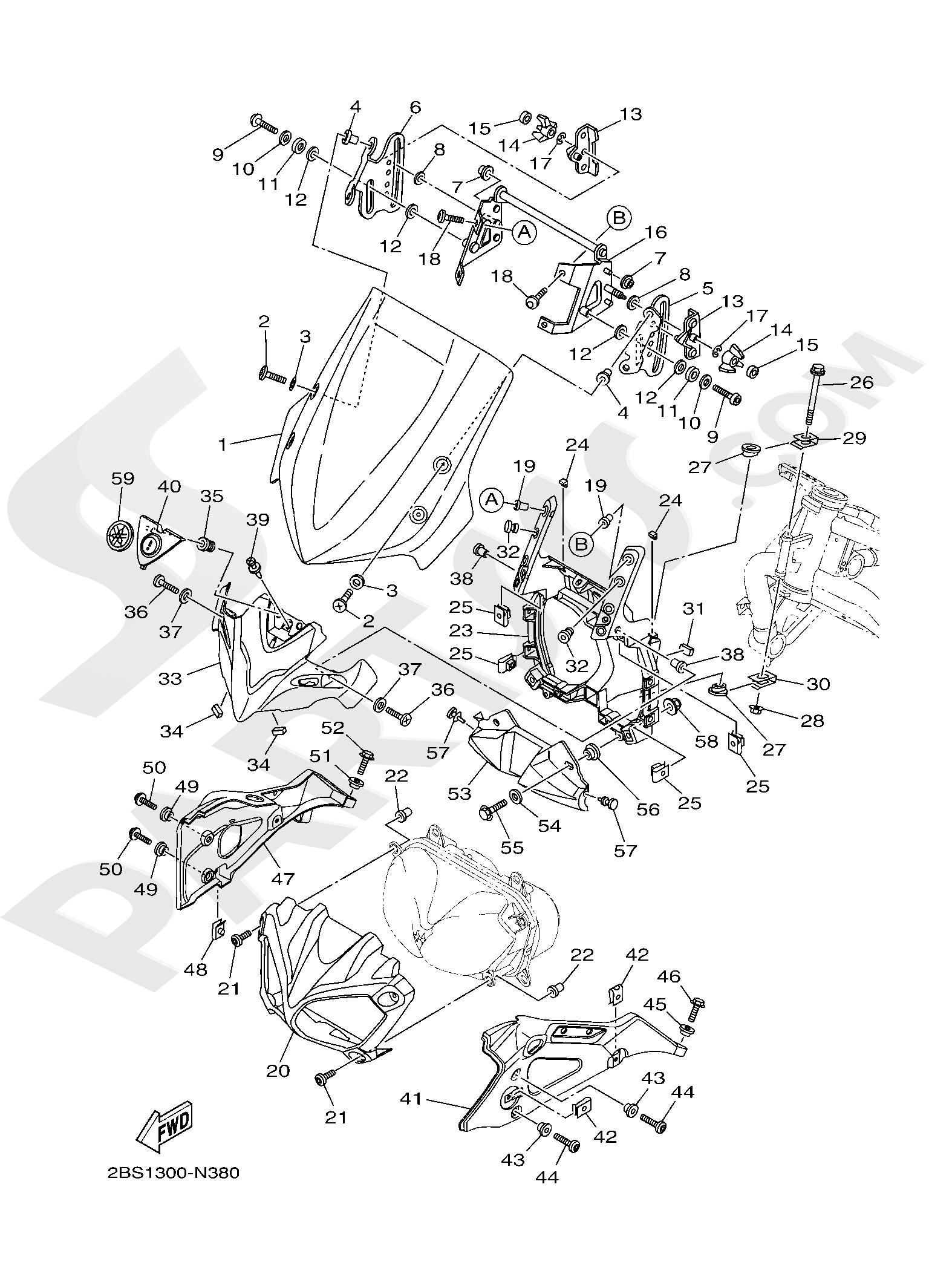 Yamaha XT1200ZE SuperTenere 2019 WINDSHIELD