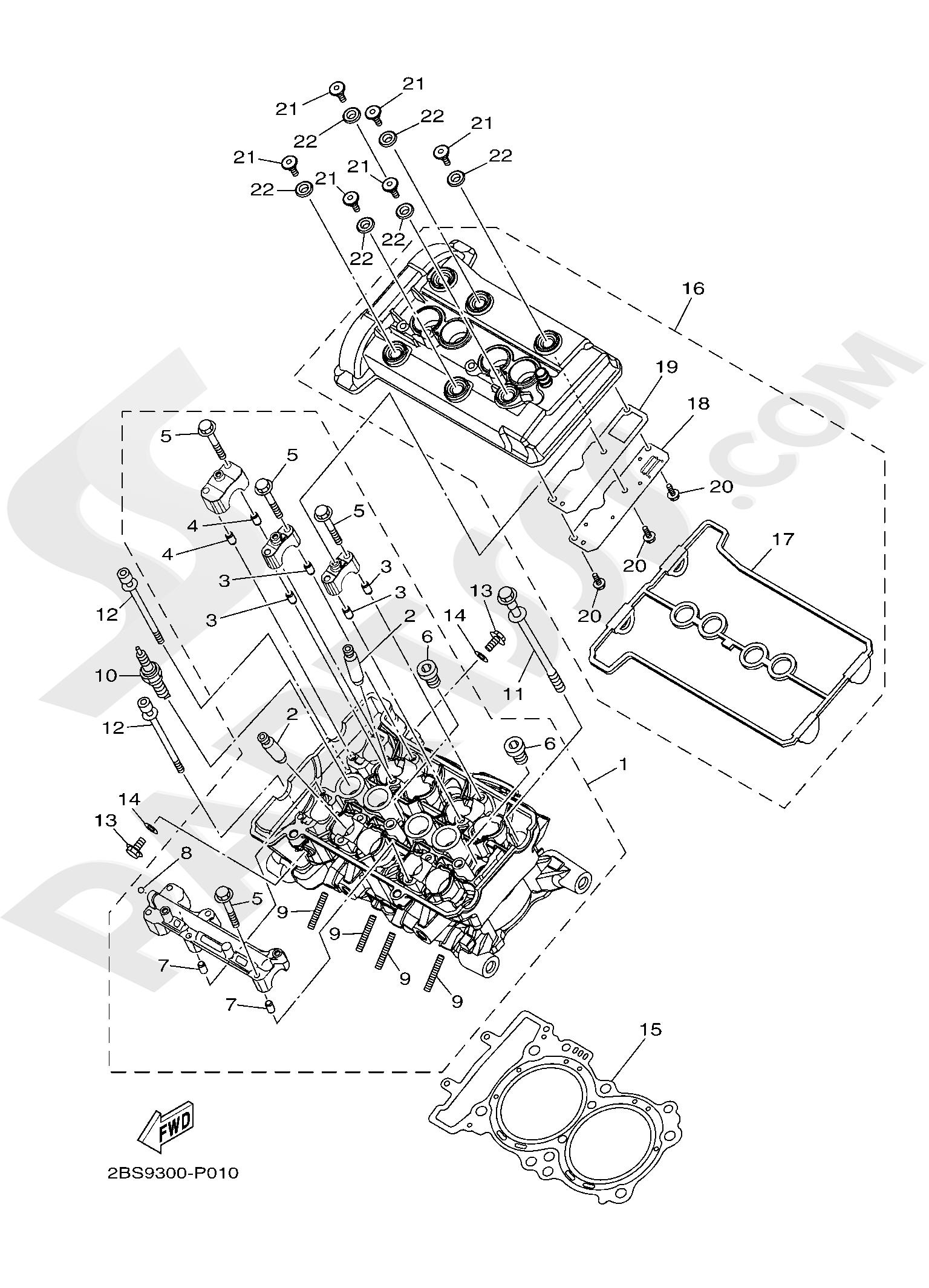 Yamaha XT1200ZE SuperTenere 2019 CYLINDER HEAD