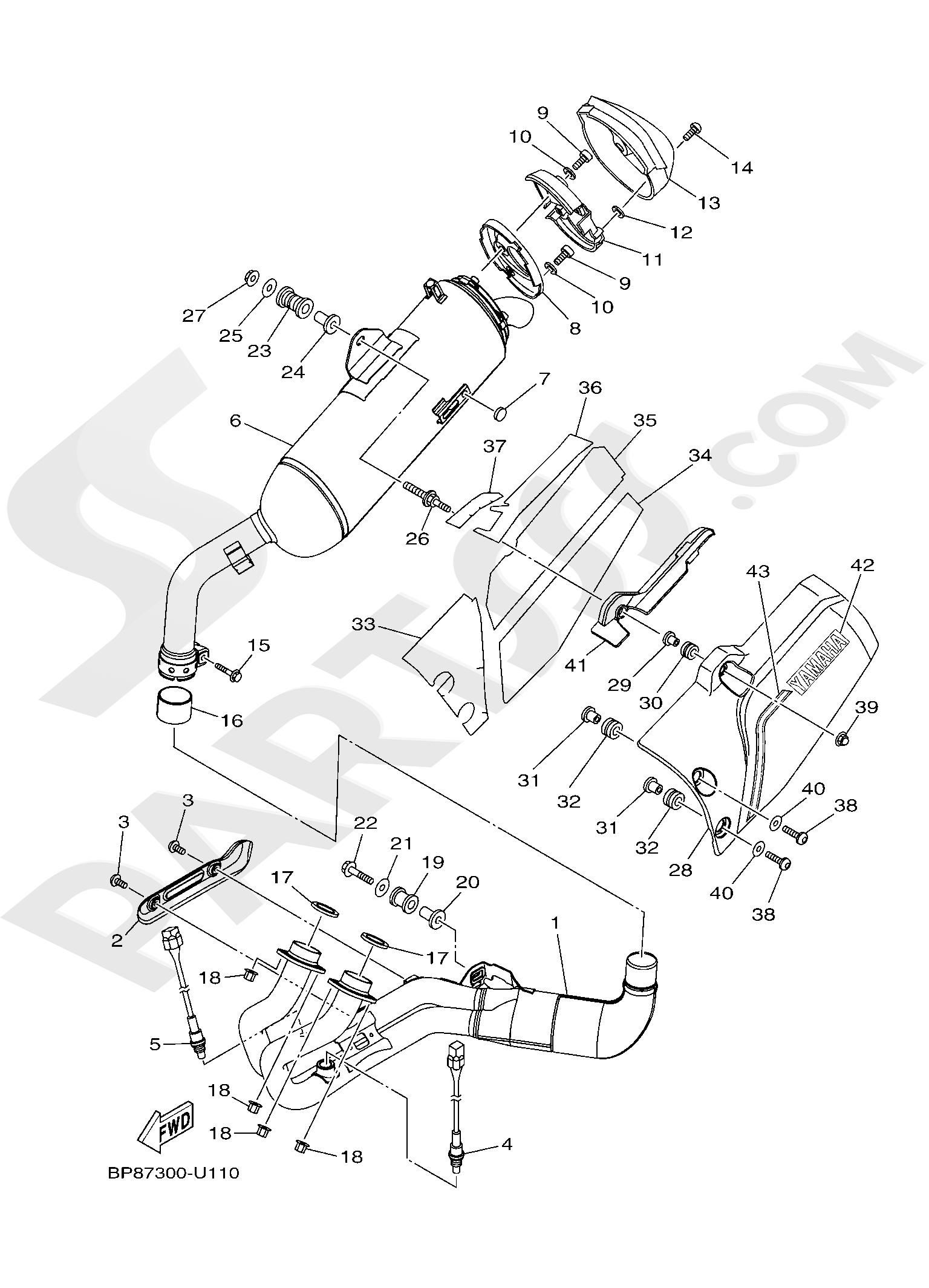 Yamaha XT1200Z SuperTenere 2019 EXHAUST