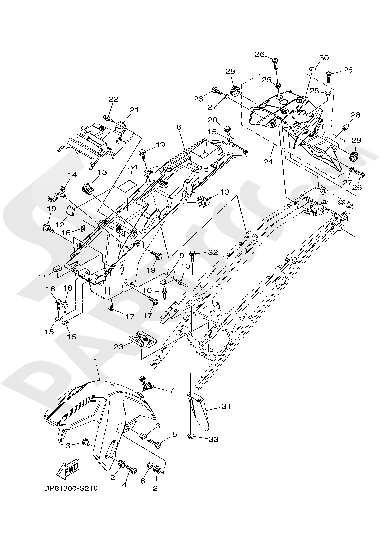 Yamaha XT1200Z SuperTenere 2019 FENDER