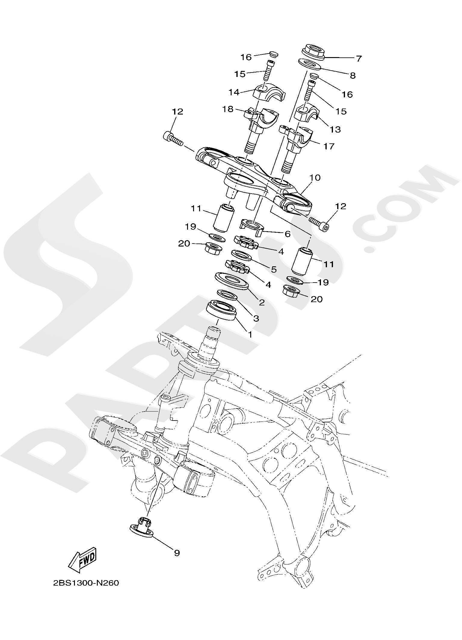 Yamaha XT1200Z SuperTenere 2019 STEERING
