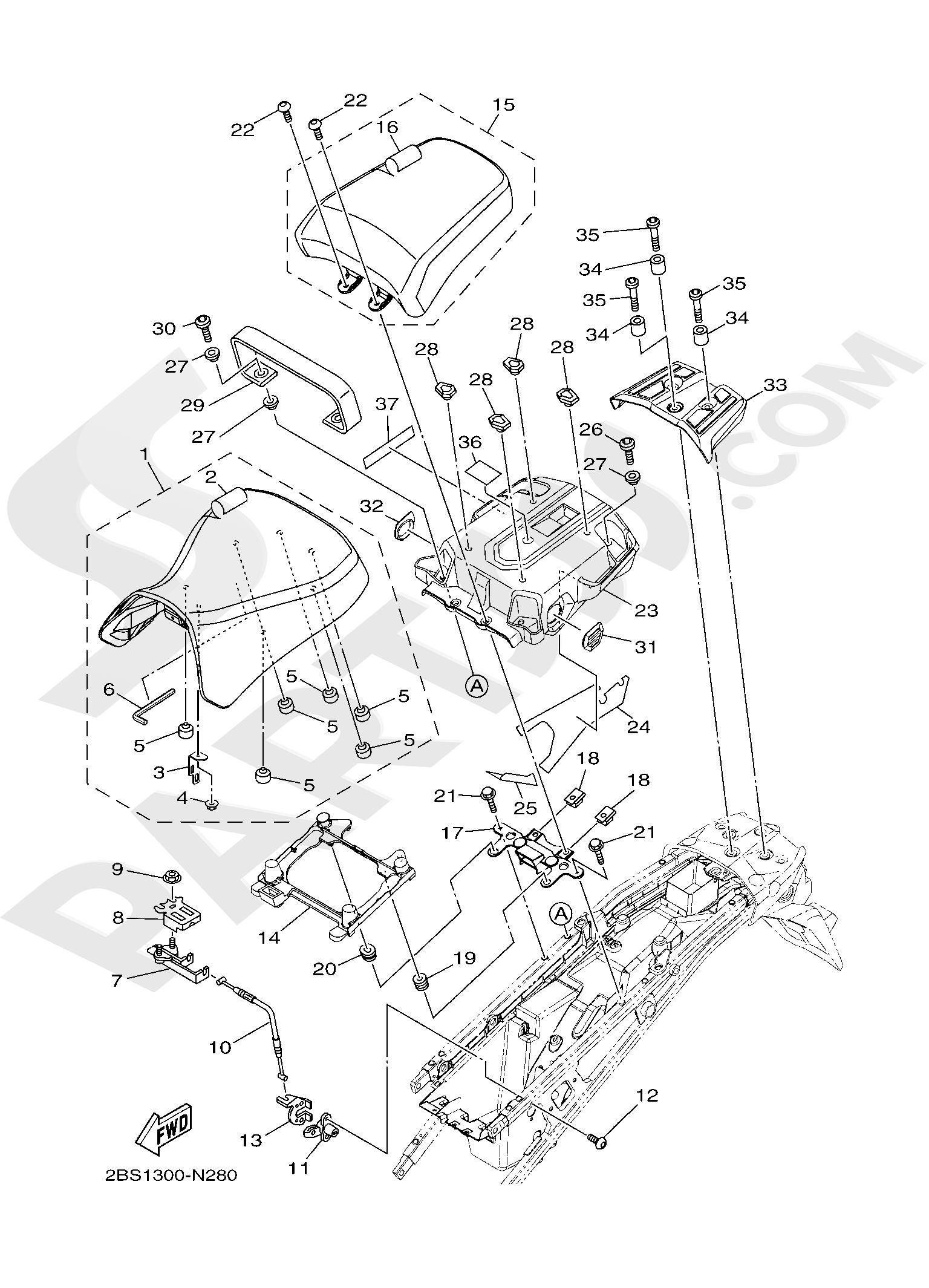 Yamaha XT1200Z SuperTenere 2019 SEAT