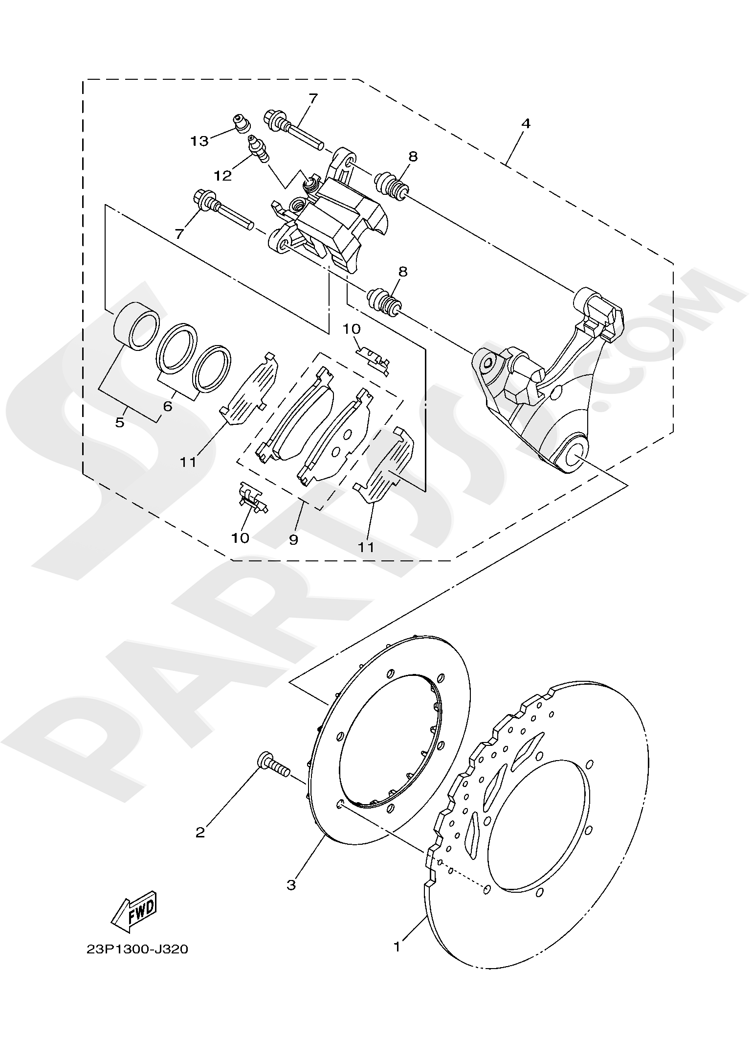 Yamaha XT1200Z SuperTenere 2019 REAR BRAKE CALIPER
