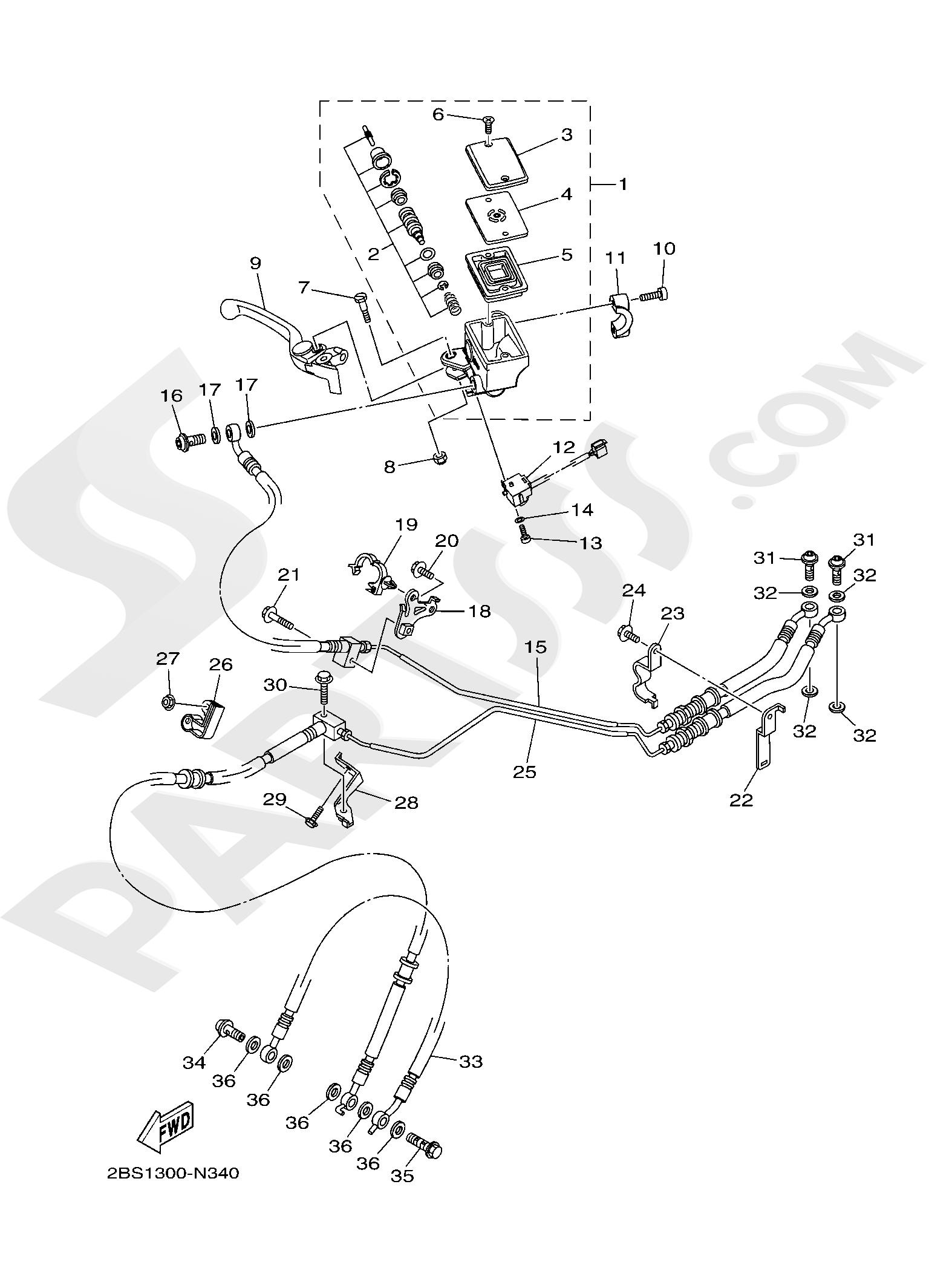 Yamaha XT1200Z SuperTenere 2019 FRONT MASTER CYLINDER