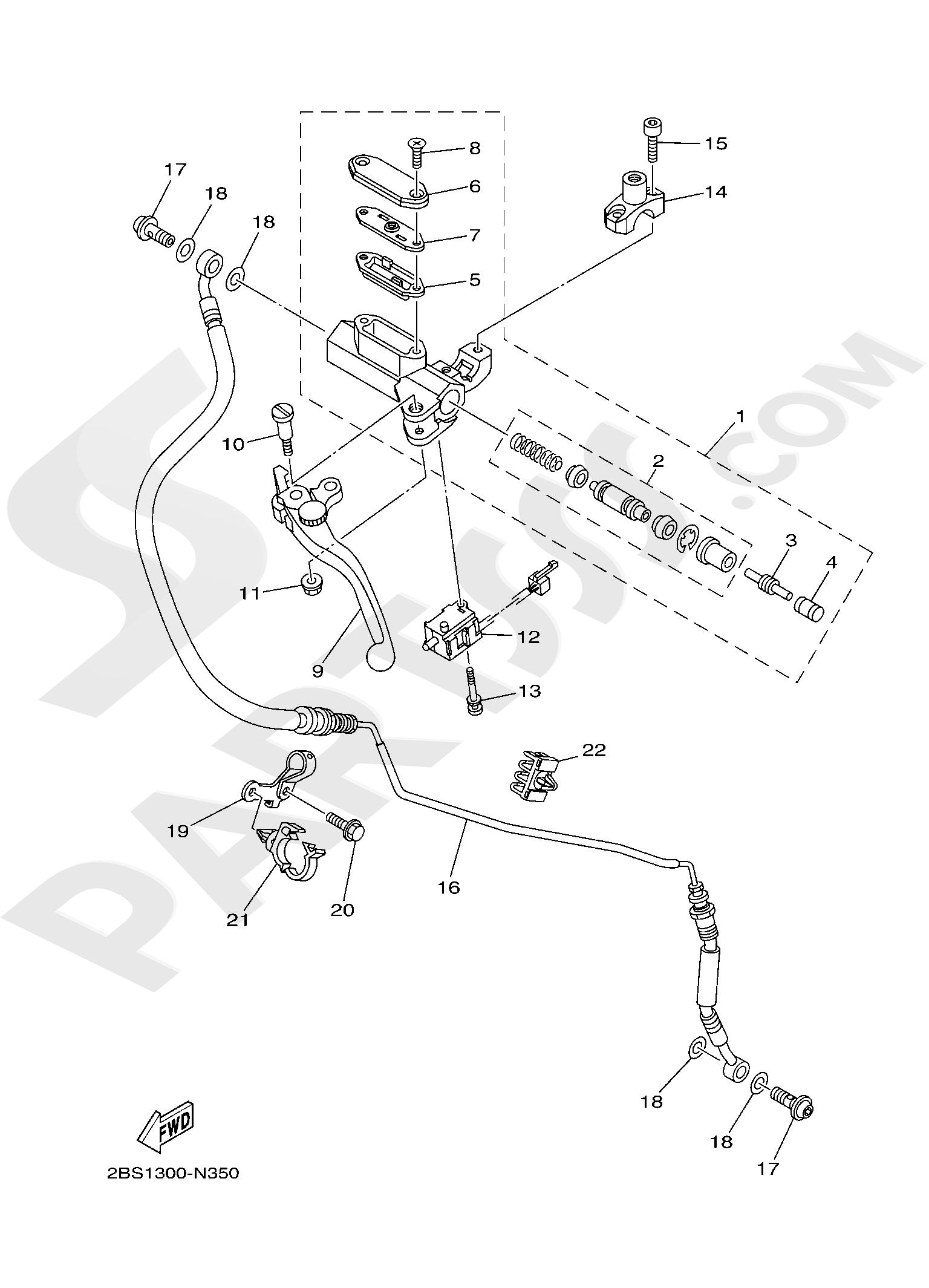Yamaha XT1200Z SuperTenere 2019 FRONT MASTER CYLINDER 2
