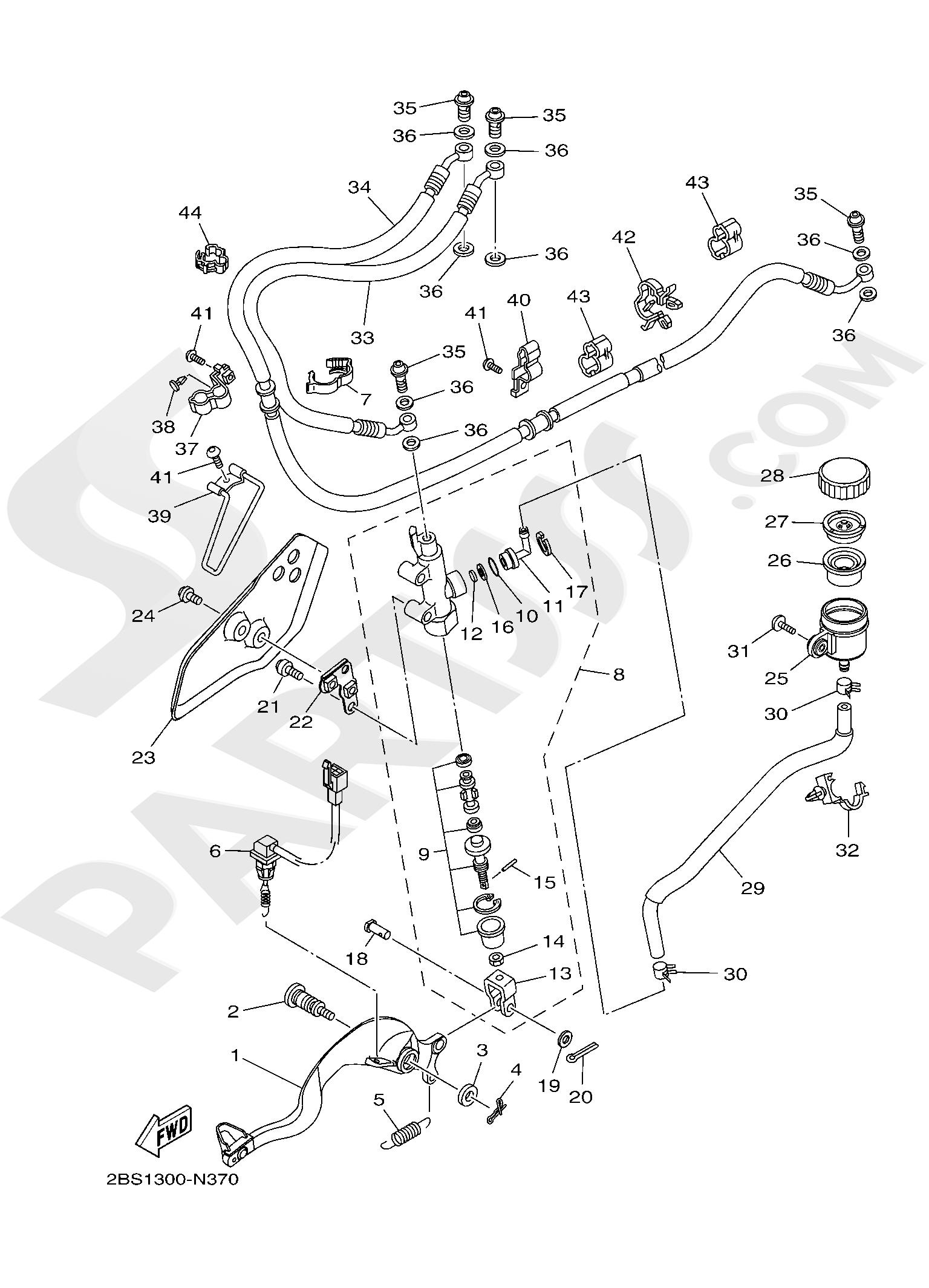 Yamaha XT1200Z SuperTenere 2019 REAR MASTER CYLINDER