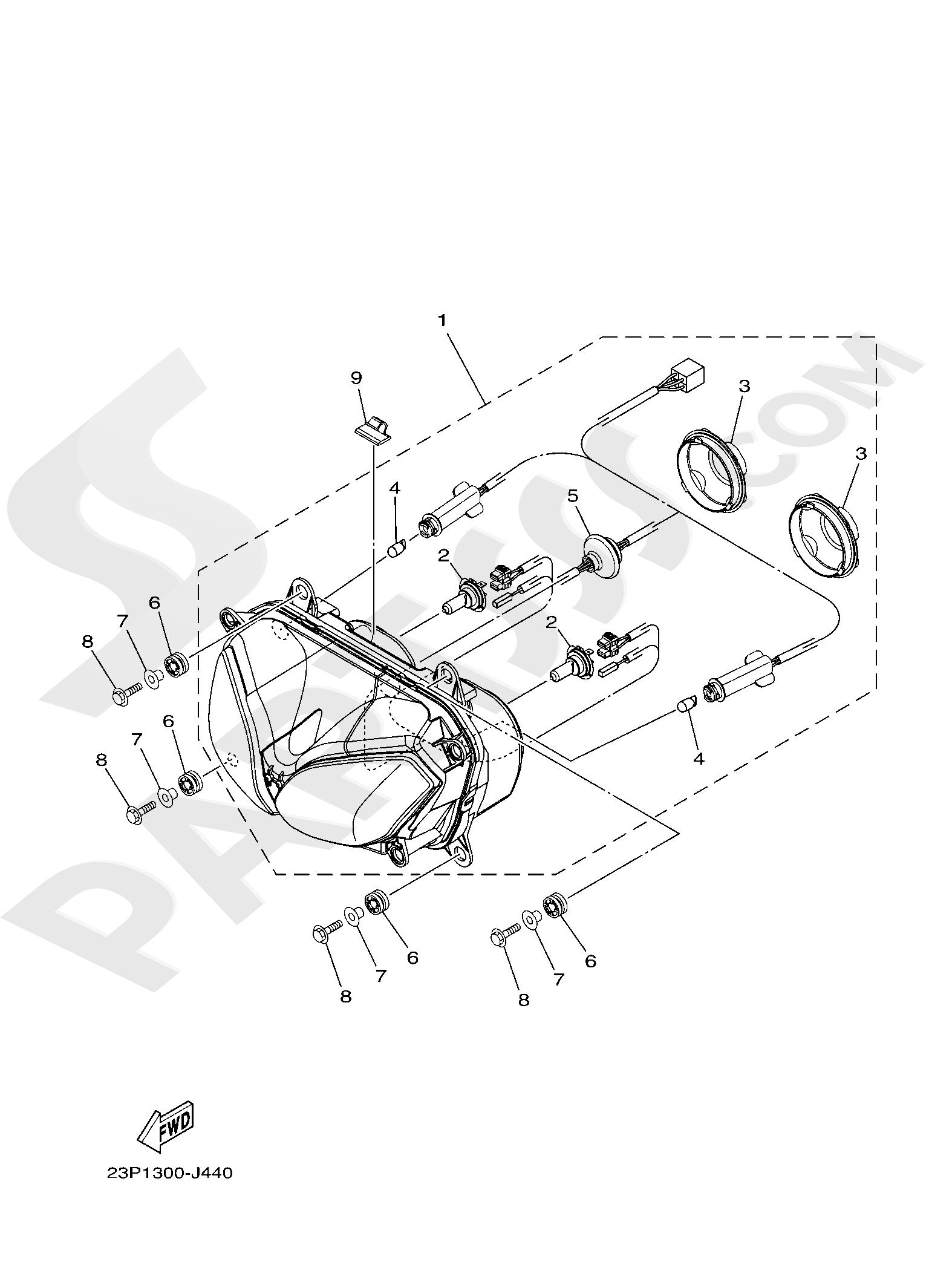 Yamaha XT1200Z SuperTenere 2019 HEADLIGHT