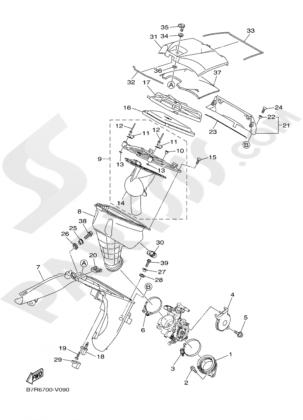 INTAKE Yamaha WR450F 2020