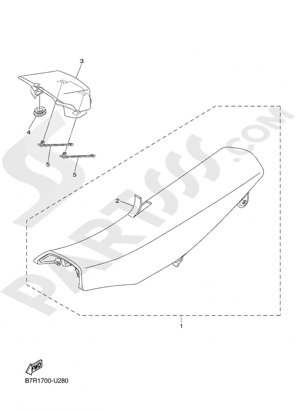 SEAT Yamaha WR250F 2020