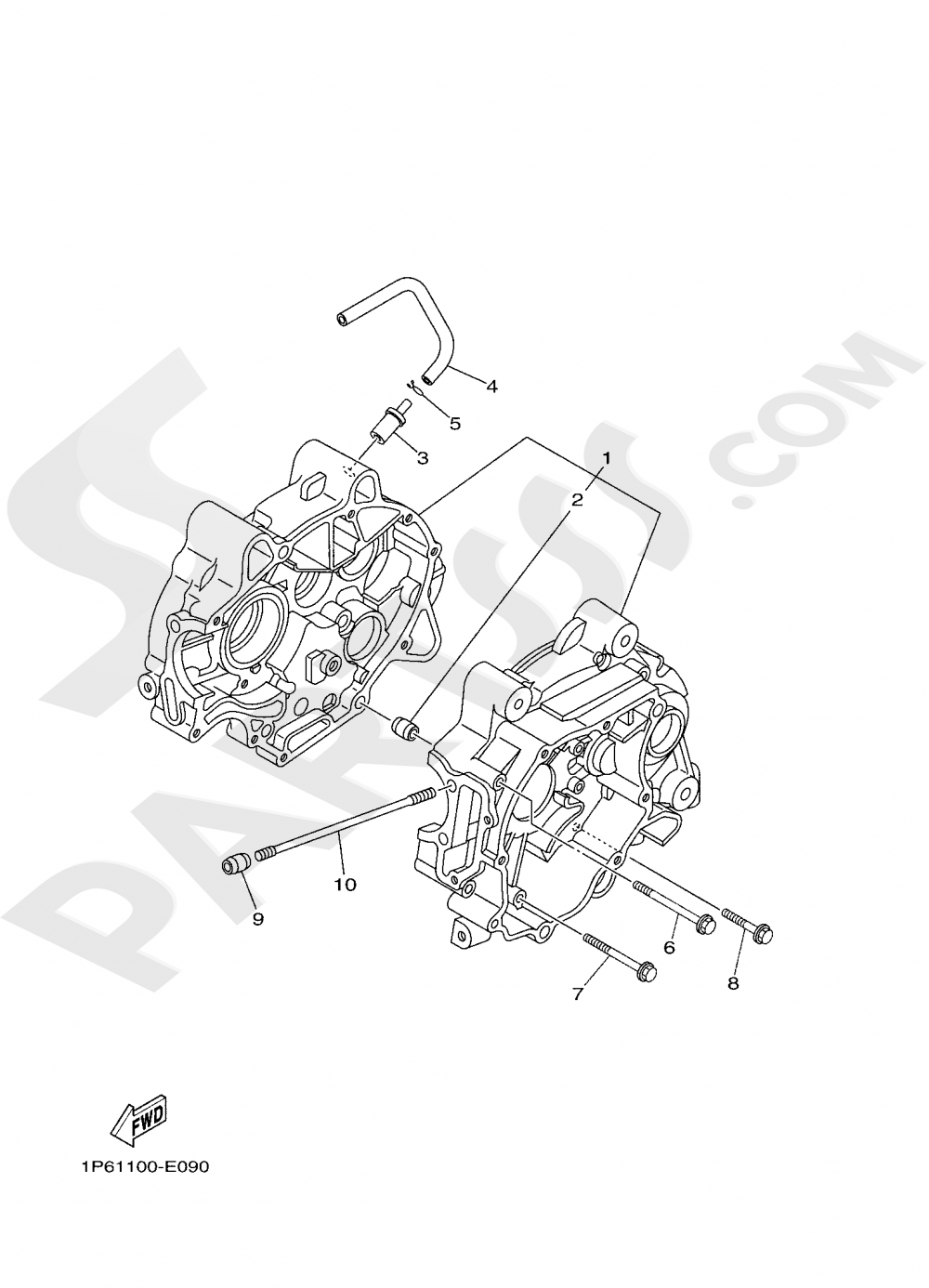 CRANKCASE Yamaha TT-R50E 2020